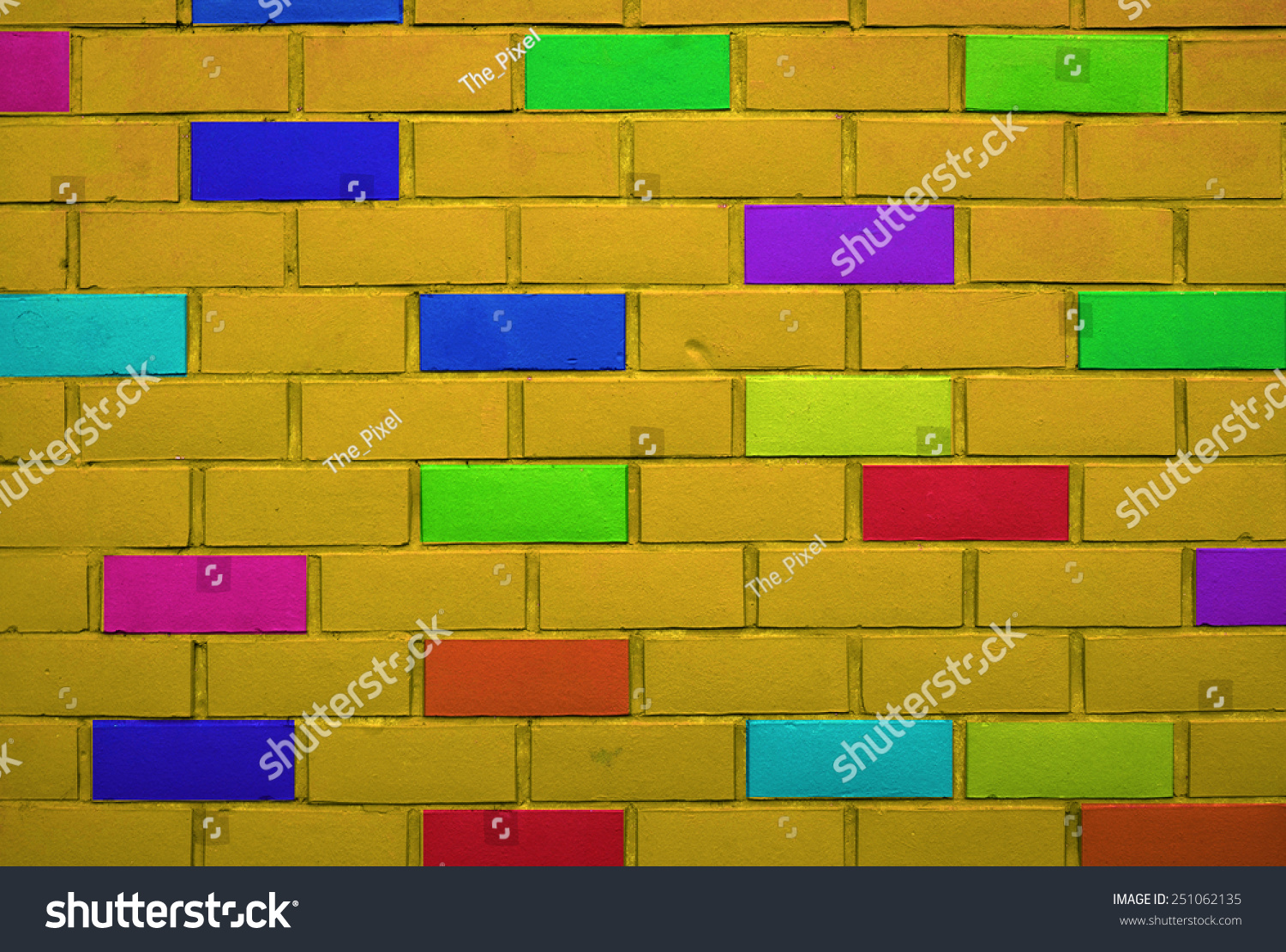 Kids Interior Brick Wall Pattern Gallery Stock Photo (Edit Now ...