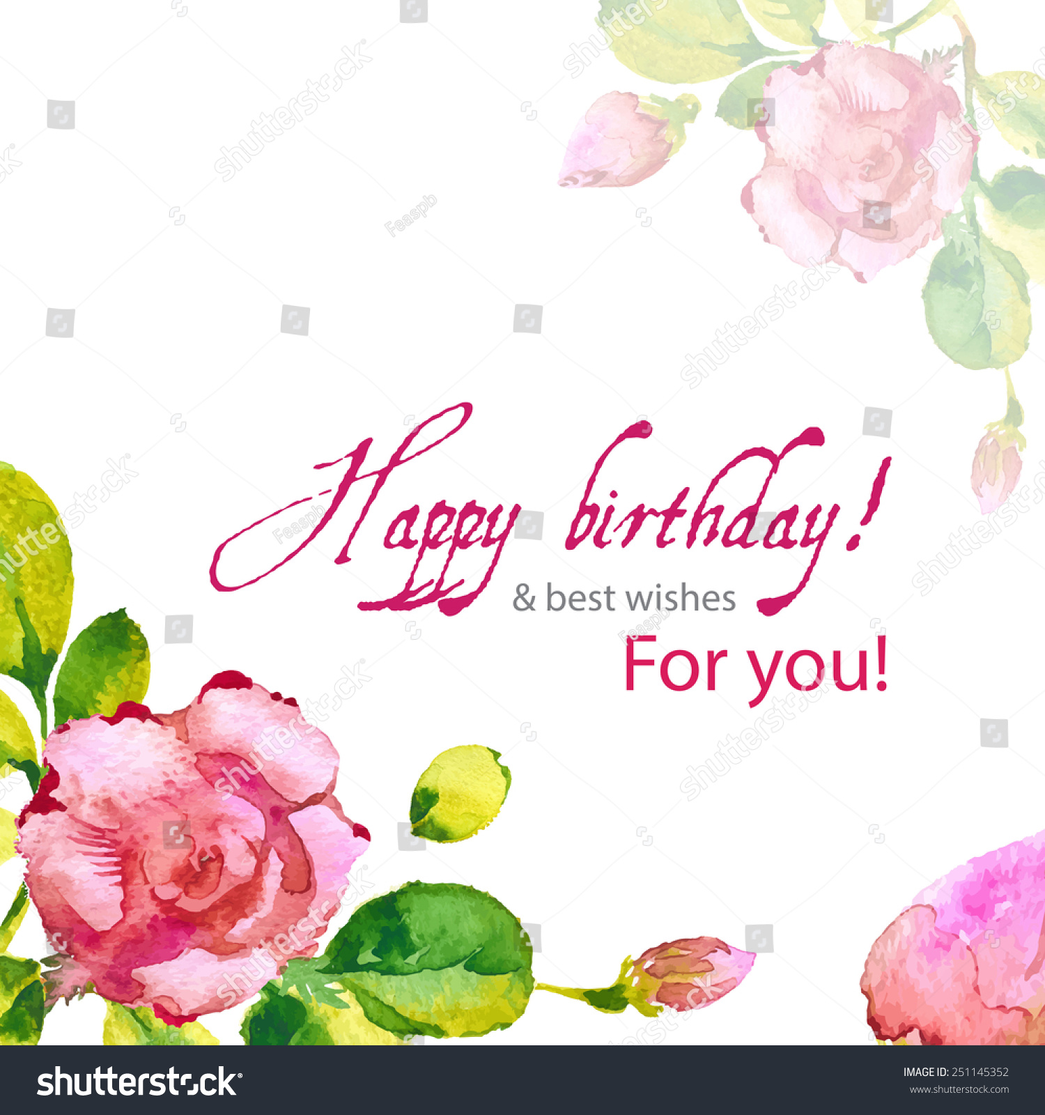 Happy birthday vintage flower card vector stock vector 251145352 happy birthday vintage flower card vector stock vector 251145352 shutterstock izmirmasajfo