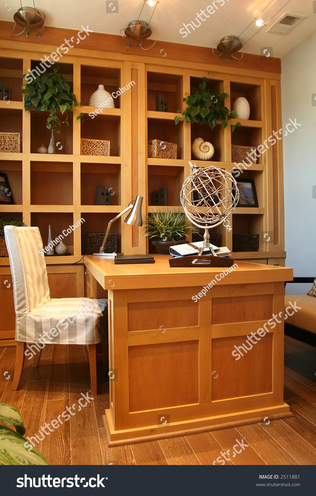 A beautiful home office interior in an upscale home stock photo 2511881 shutterstock - Beautiful home office interior ...