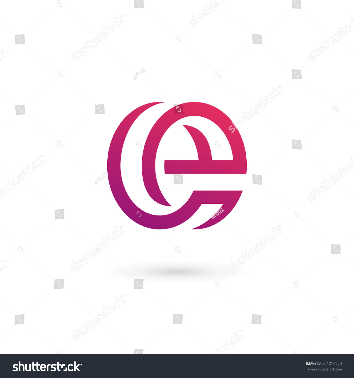 letter e logo icon design template stock vector 251214550 shutterstock. Black Bedroom Furniture Sets. Home Design Ideas
