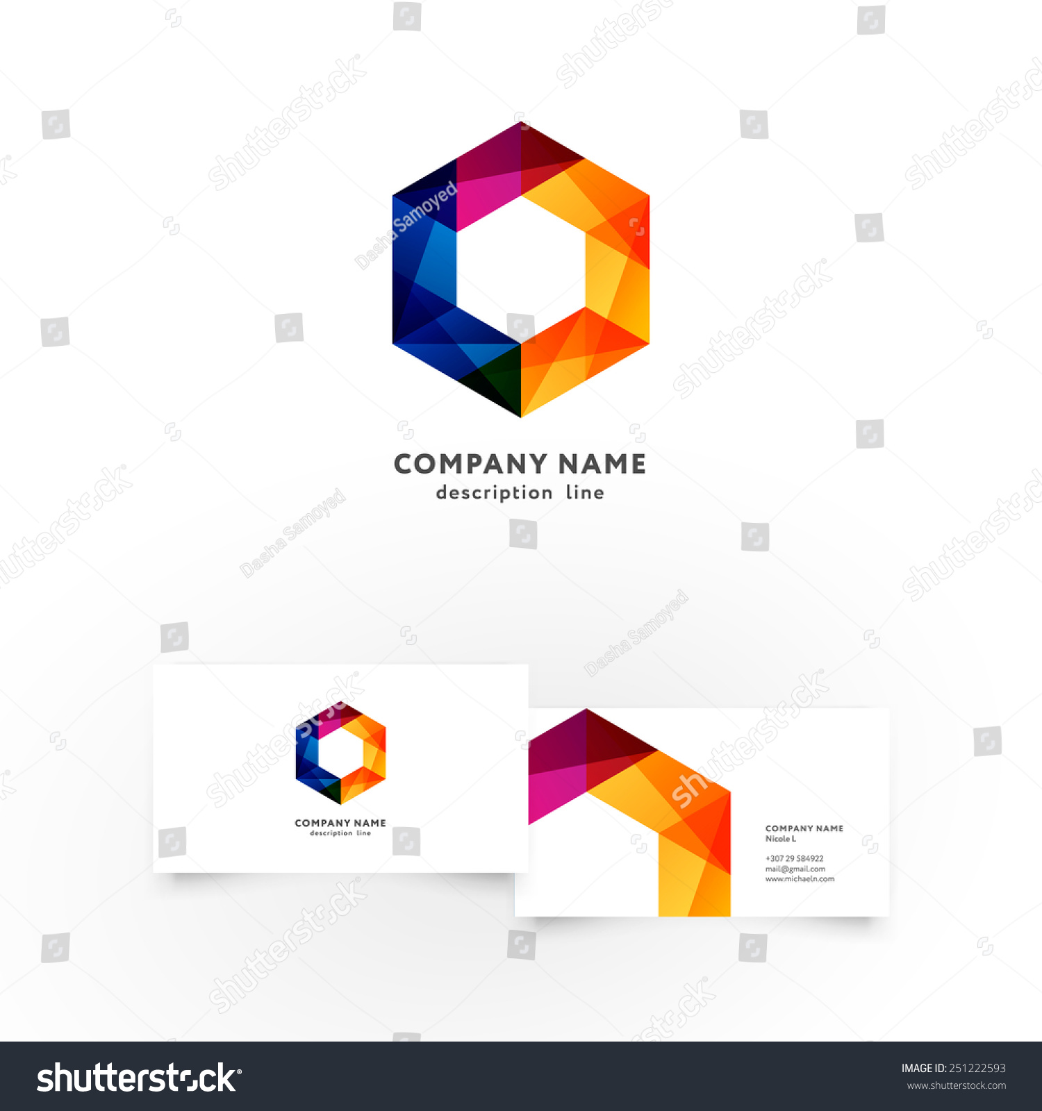Modern Icon Design Hexagon Shape Element Stock Vector 251222593 ...