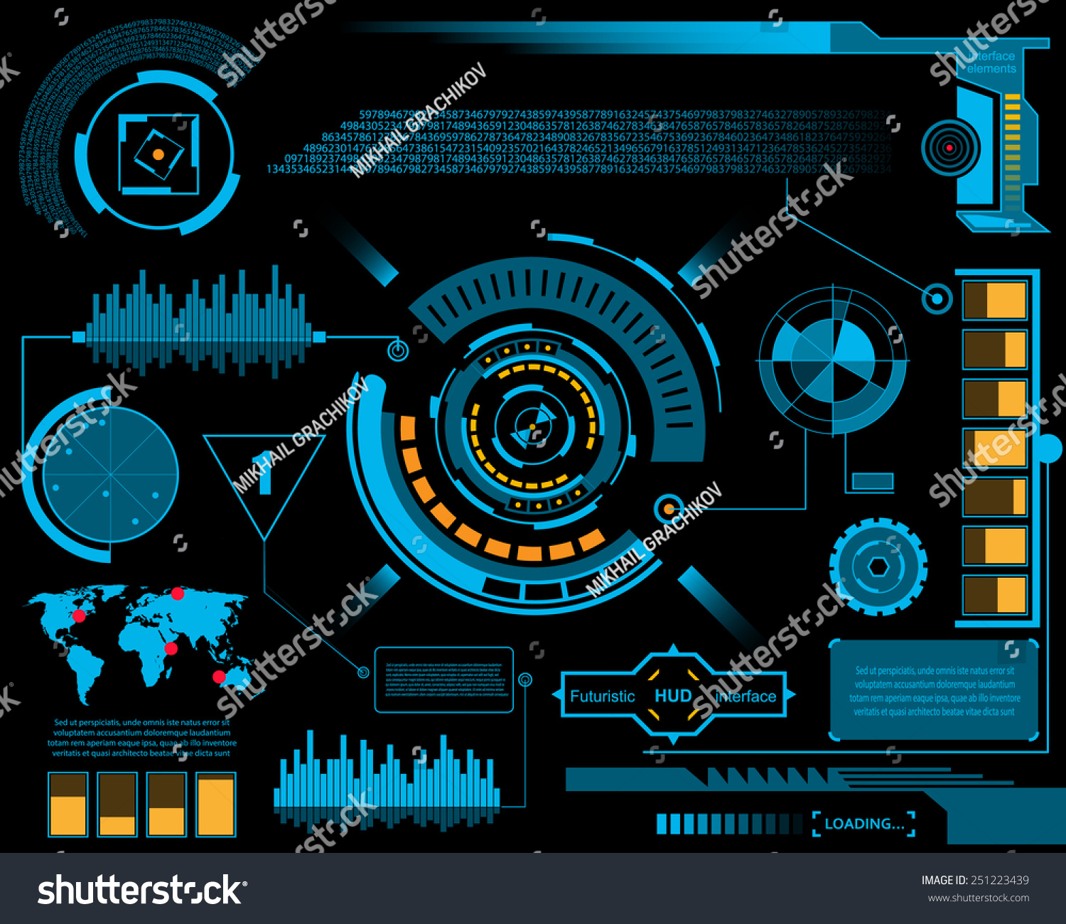 Abstract Future Concept Vector Futuristic Blue Stock ...