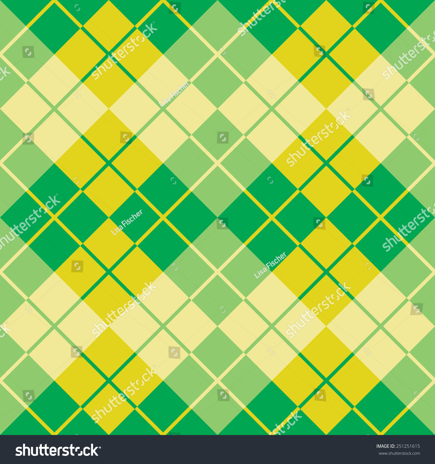 Seamless Argyle Pattern Analogous Colors Stock Vector (Royalty Free ...