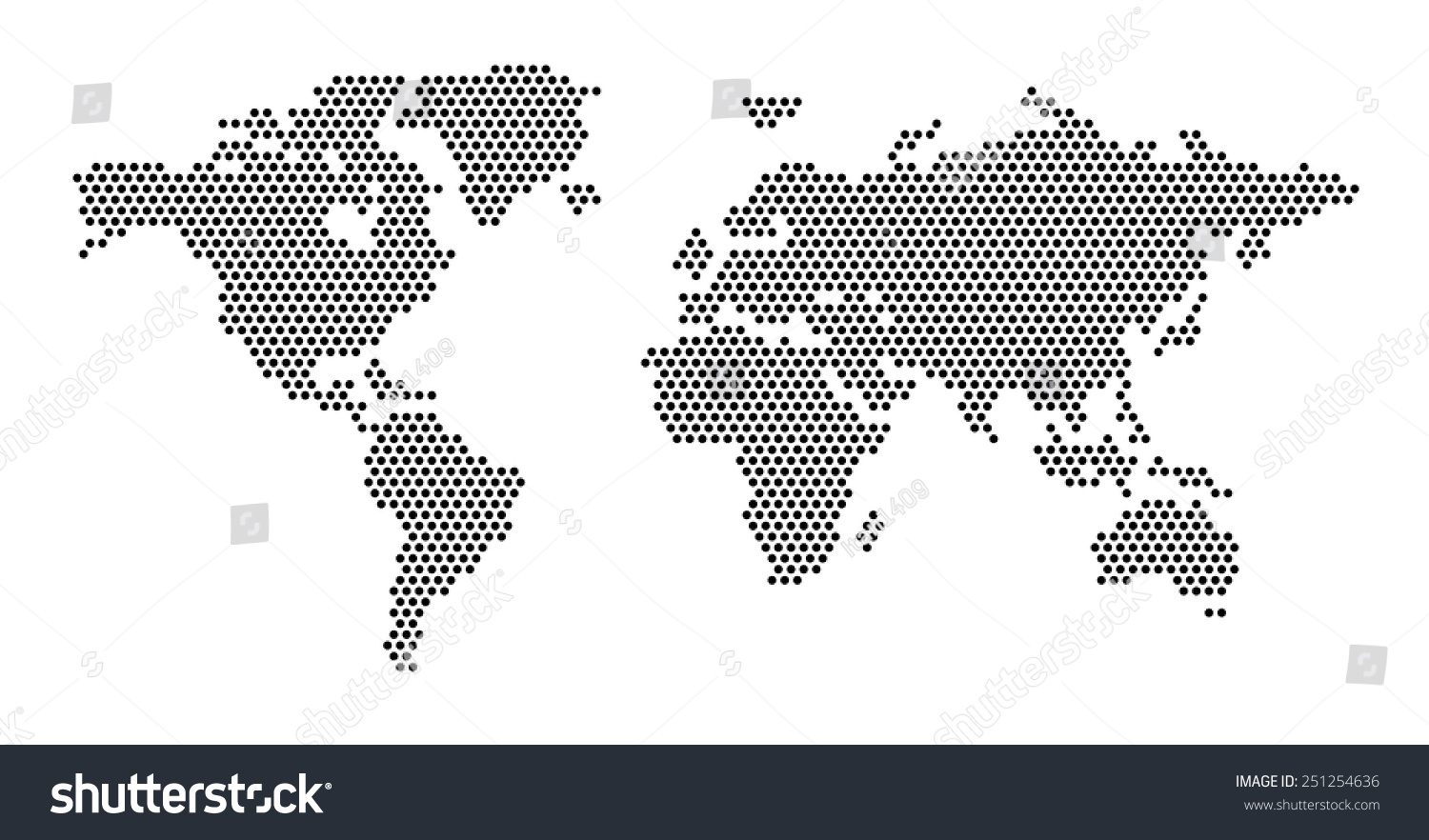 World map dots eps 10 vectores en stock 251254636 shutterstock world map dots eps 10 gumiabroncs Choice Image