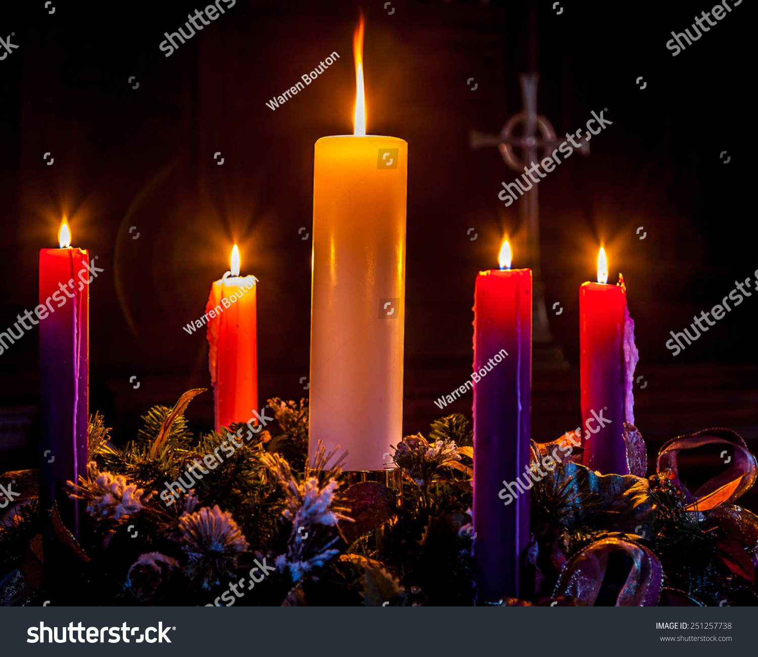 advent candles glow mark celebration christmasadvent stock photo
