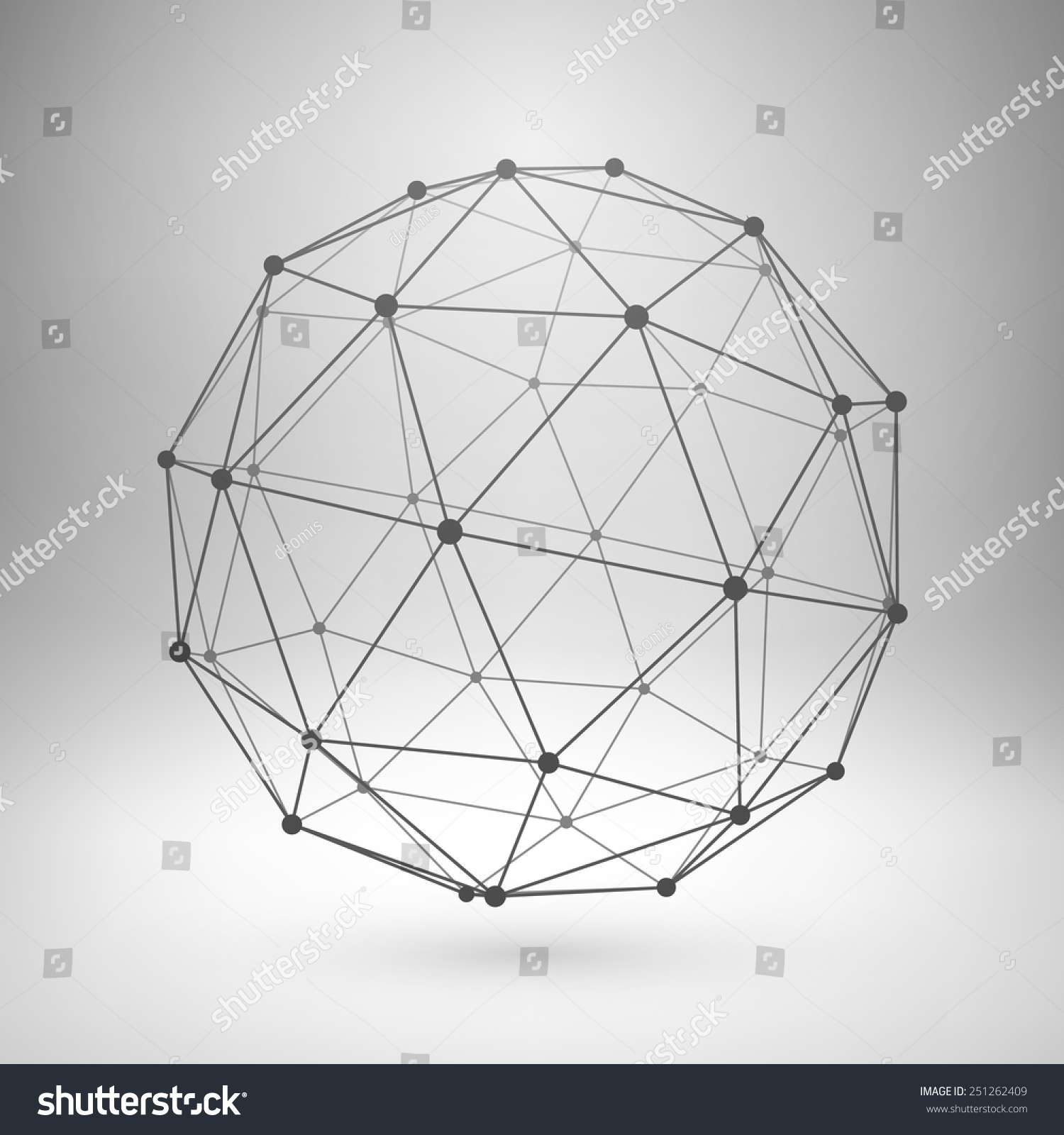 Royalty-free Wireframe mesh polygonal element.… #251262409 Stock ...