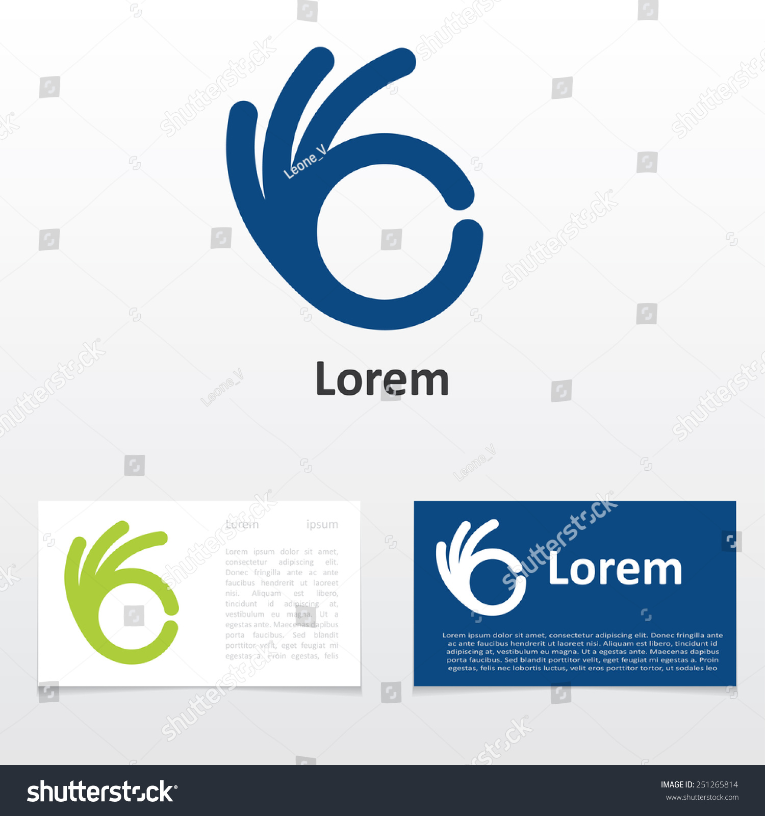 Sign ok logo design business card stock vector 251265814 sign ok logo design business card magicingreecefo Image collections