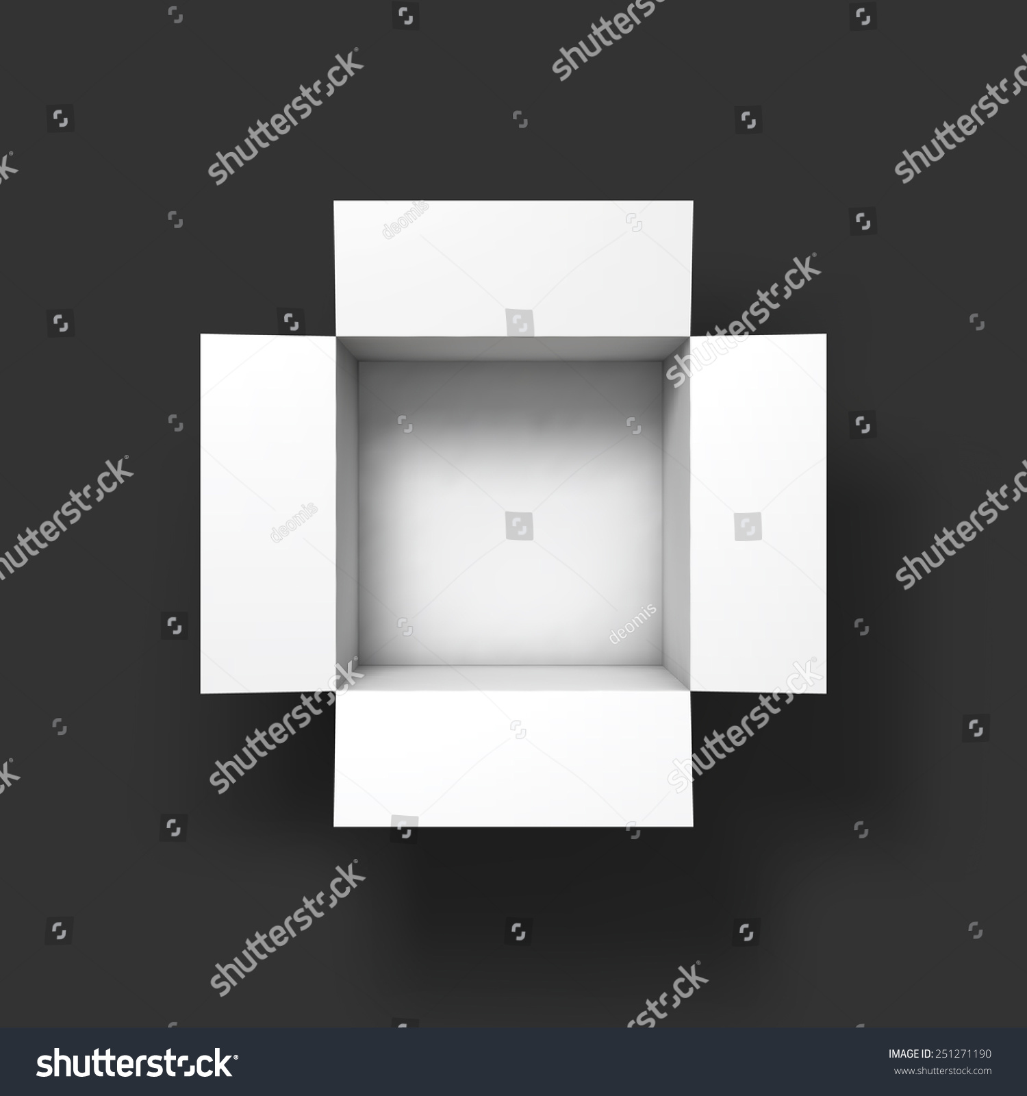 open box mockup template top view vector illustration eps10 251271190 shutterstock. Black Bedroom Furniture Sets. Home Design Ideas