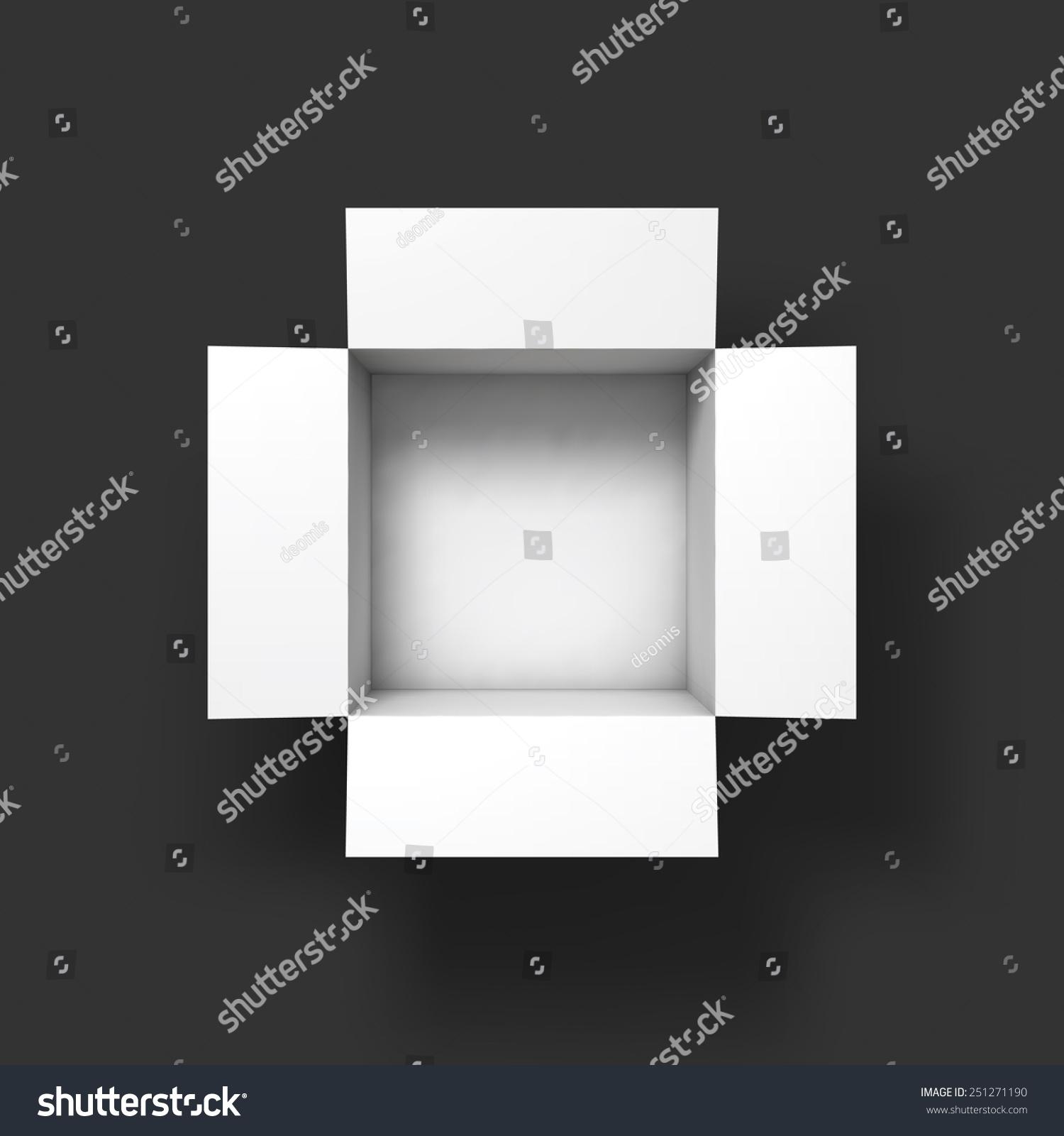 open box mockup template top view vector illustration eps10 251271190 shutterstock. Black Bedroom Furniture Sets. Home Design Ideas