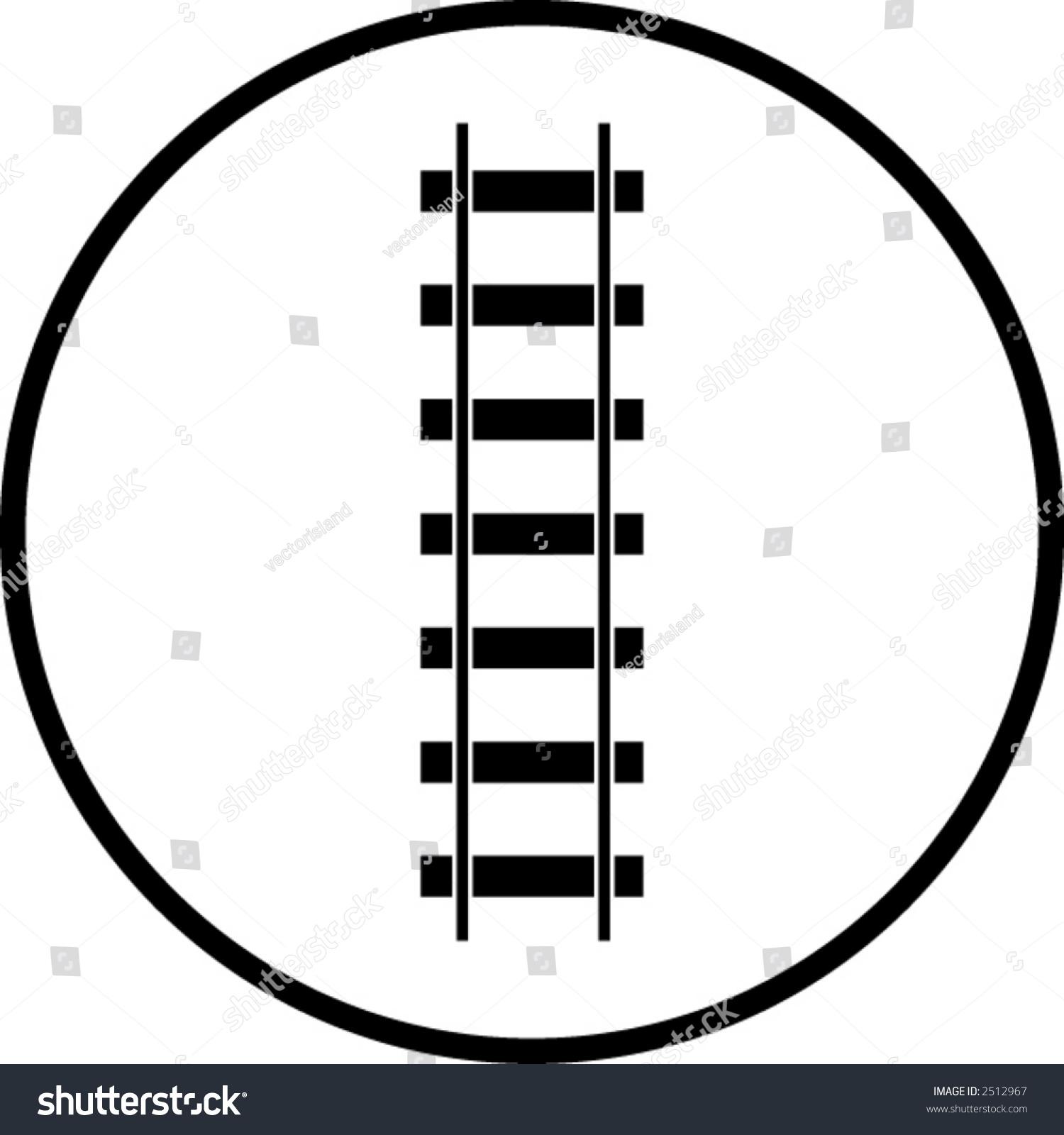 Railroad Symbol Stock Vector Illustration 2512967 : Shutterstock
