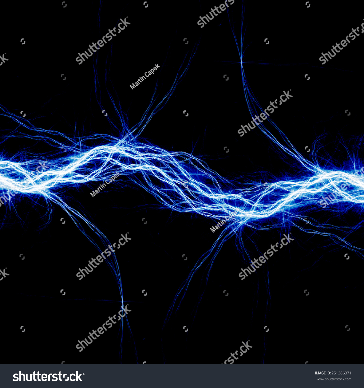 abstract blue electricity - photo #42