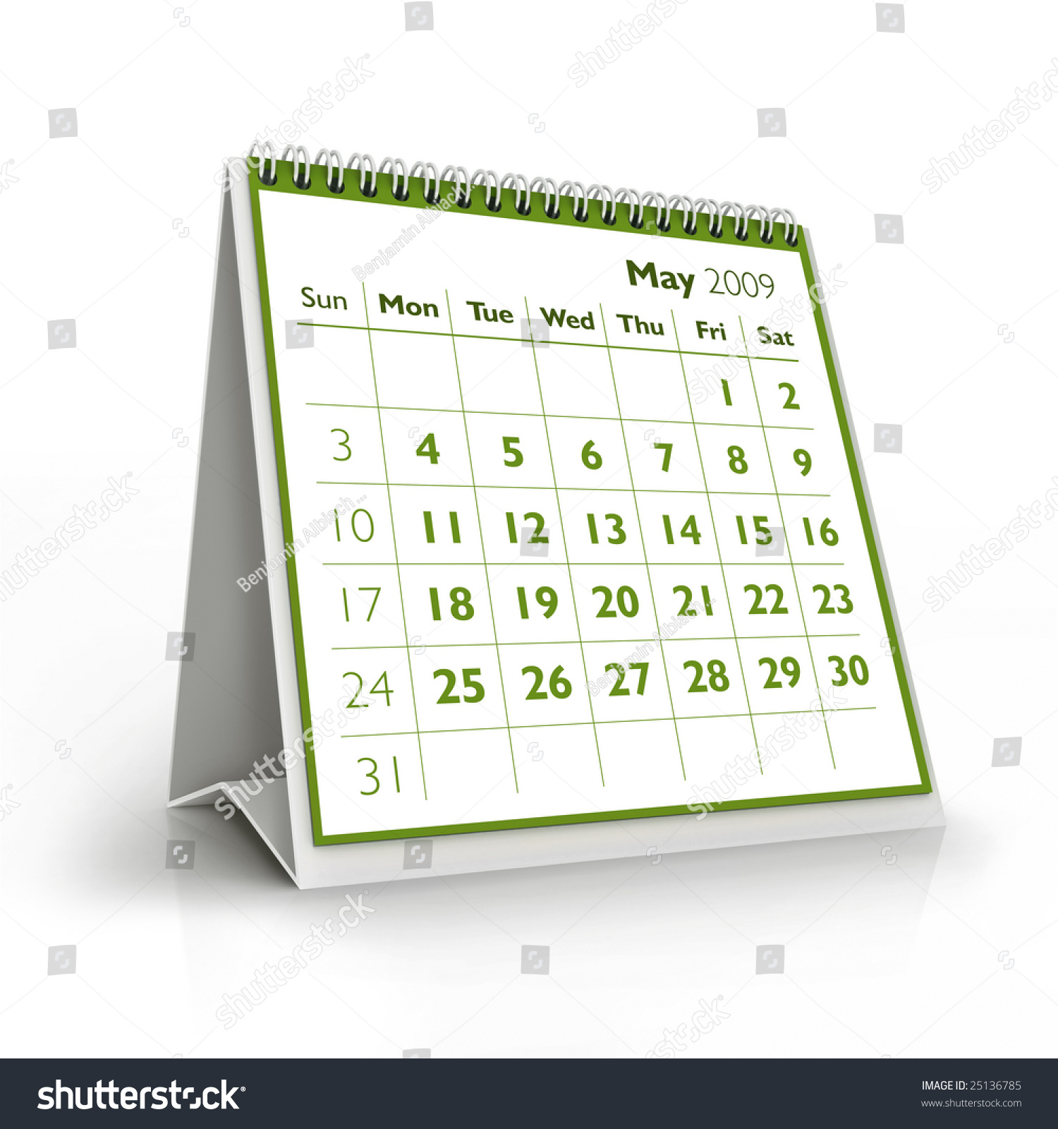 2009 Calendar May Stock Illustration Royalty Free Stock