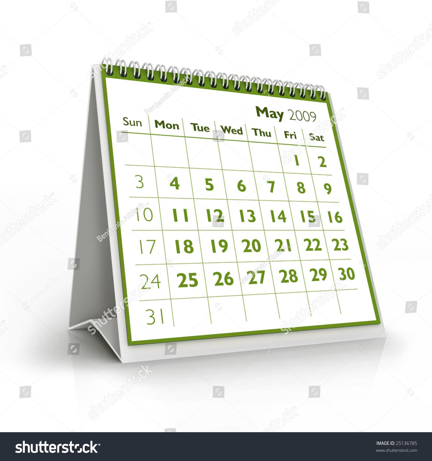2009 Calendar May Stock Illustration Royalty Free Stock