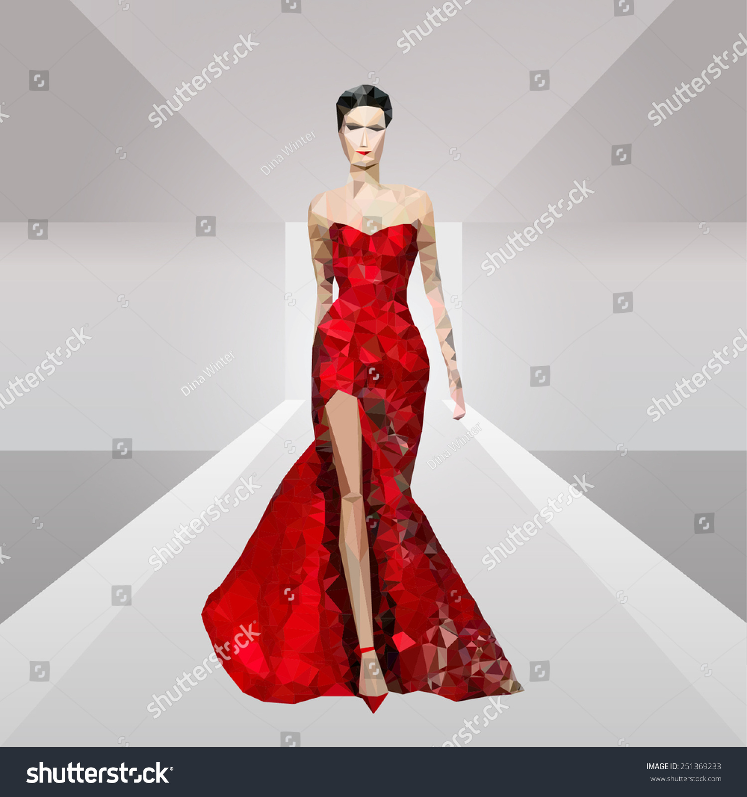 Black dress kisschasy lyrics - Red Dress Illustration