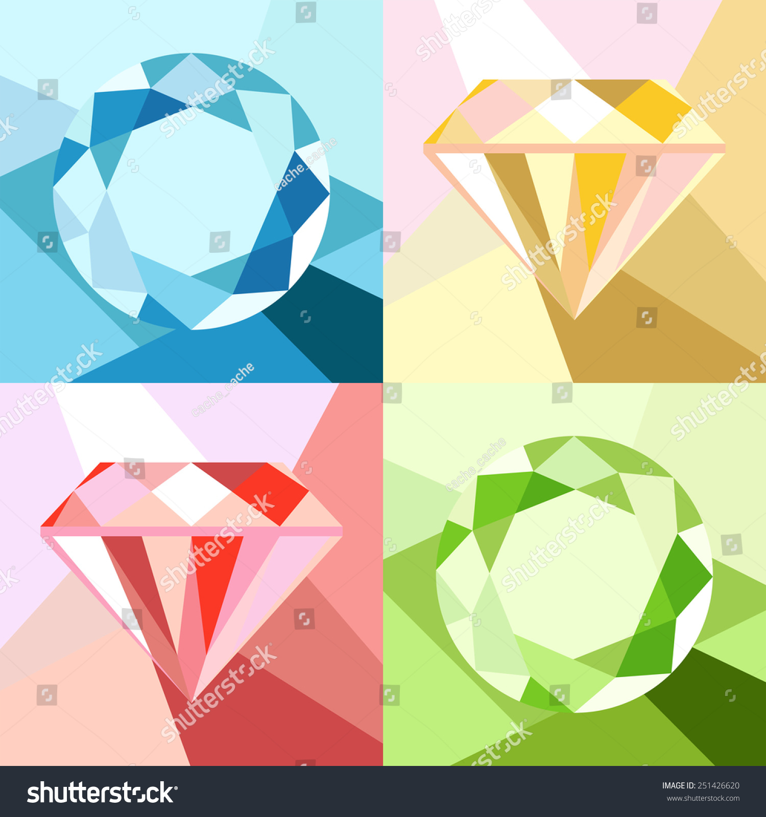polygon art diamond geometric clip background pink