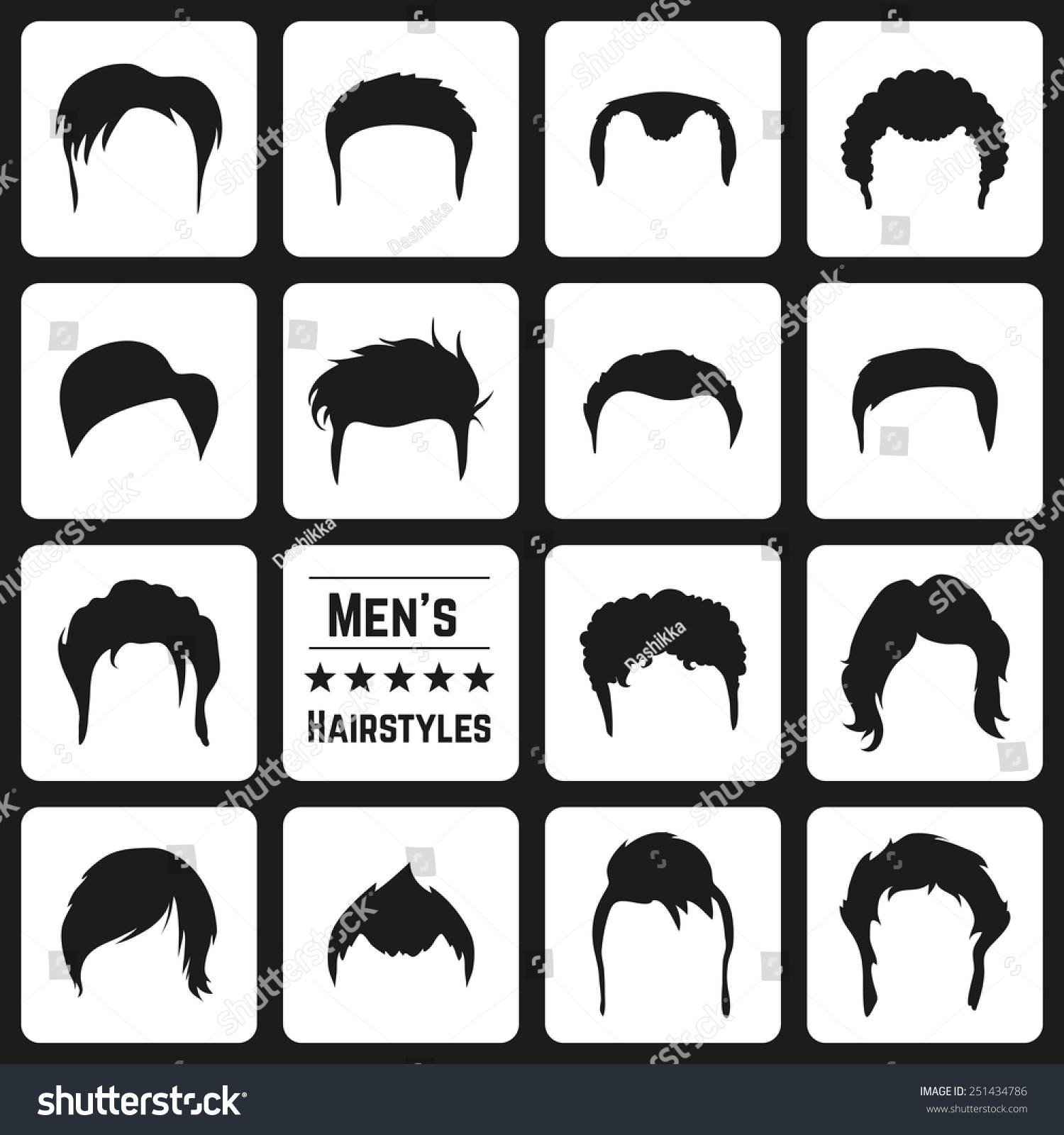 Marvelous Different Types Mens Haircuts Vector Illusatrtion Stock Vector Short Hairstyles For Black Women Fulllsitofus