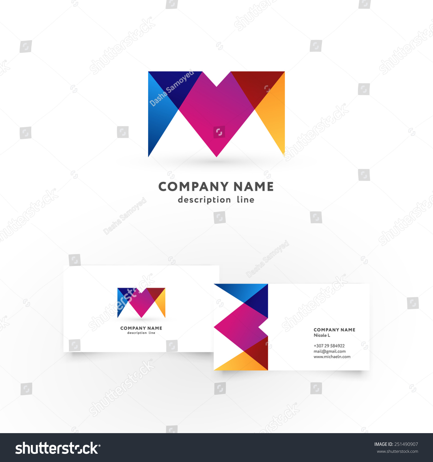 Modern icon design m letter shape stock vector 251490907 modern icon design m letter shape element with business card template best for identity and magicingreecefo Choice Image