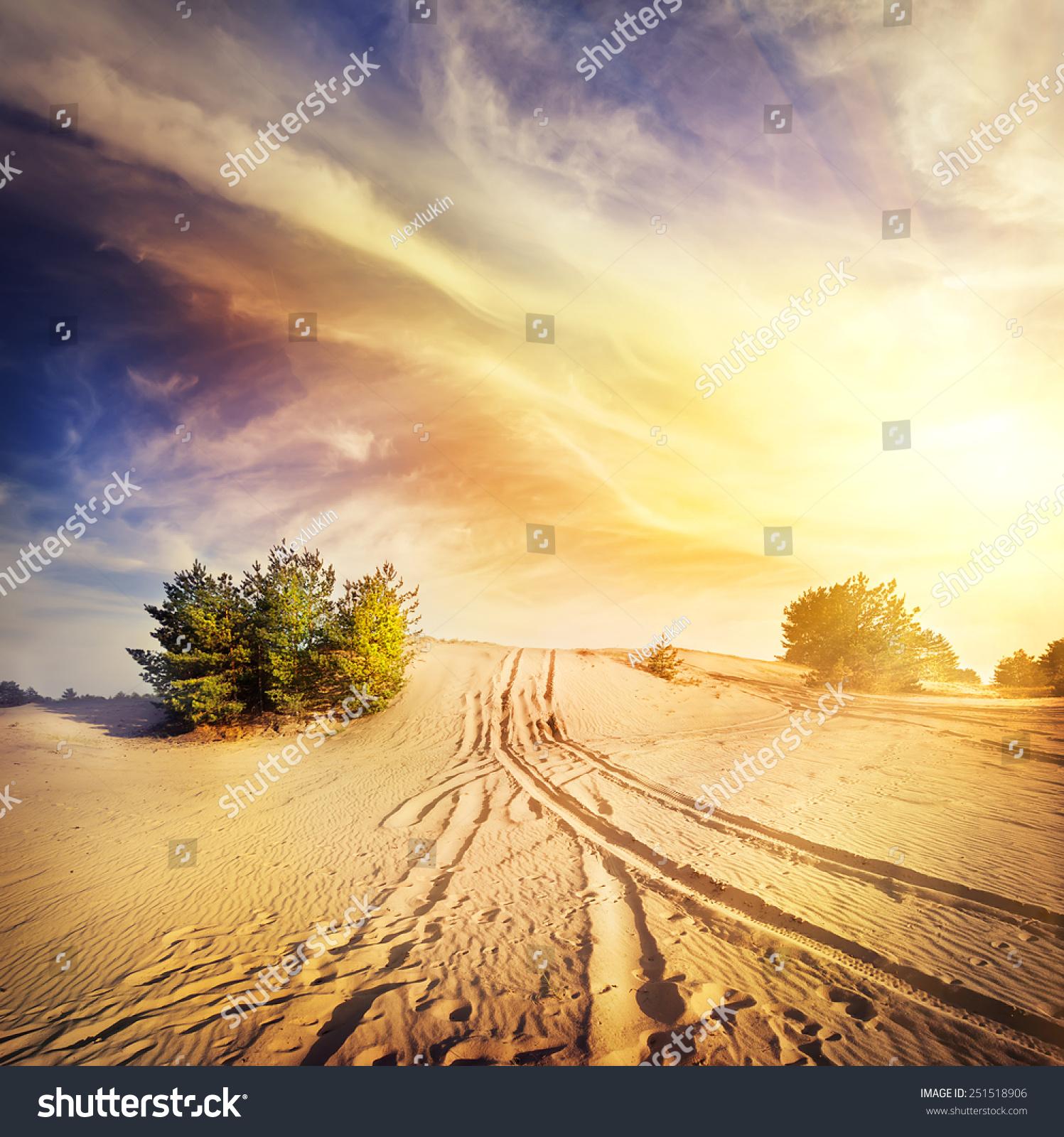 Images Of Hot Desert Sand Sky FAN - A hot desert