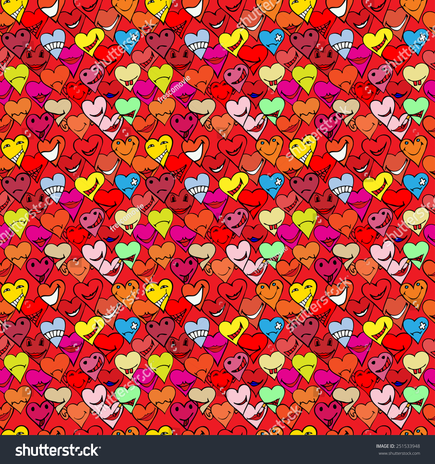 Pattern made collection different heart symbols stock vector pattern made from collection of different heart symbols doodle different emotions buycottarizona