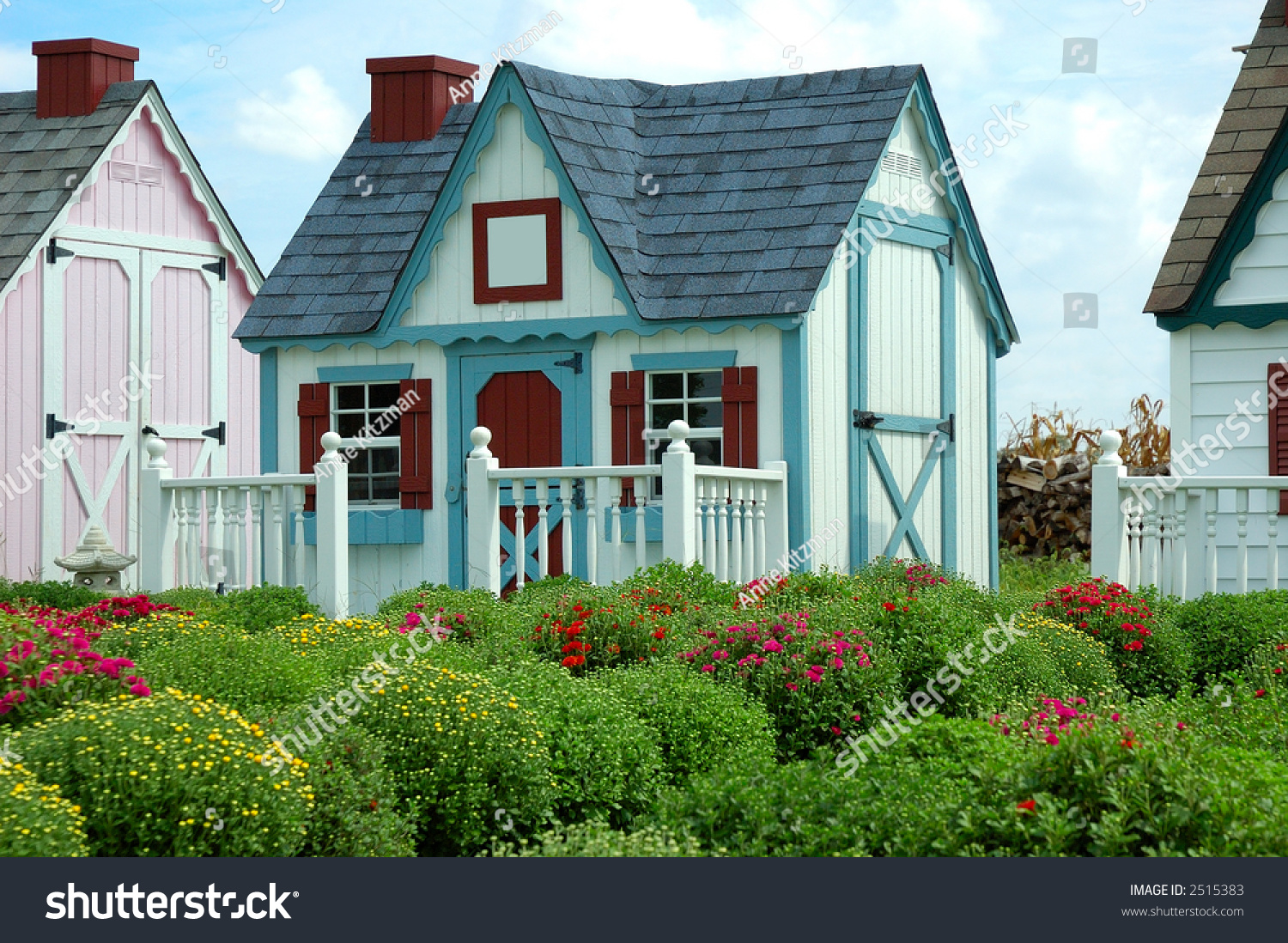Garden Sheds That Look Like Houses gingerbread houses row row small storage stock photo 2515383