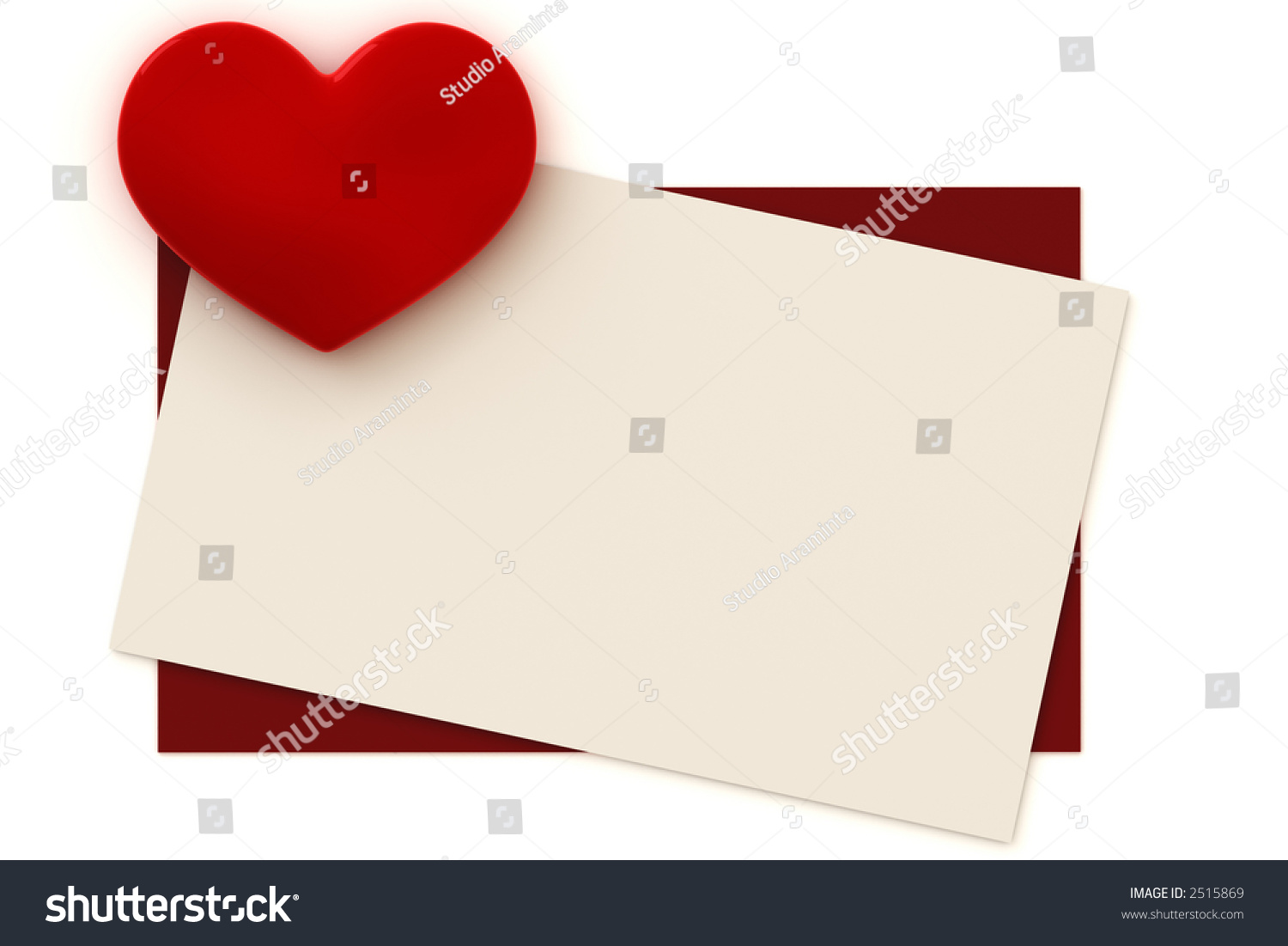 Blank Valentine Card With Copy Space To Write Your Own Text. This Is A