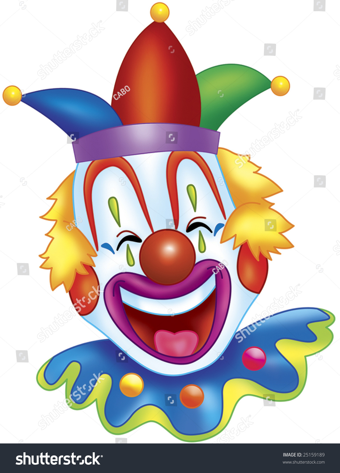 Happy Clown Stock Illustration 25159189 - Shutterstock  Happy Clown Pictures