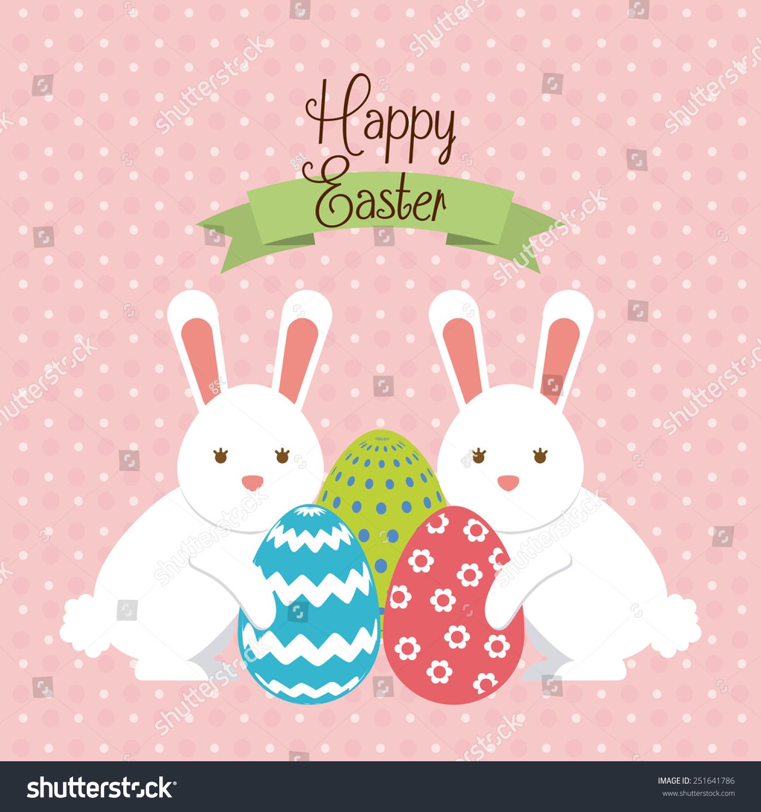 Happy Easter Design Vector Illustration Eps10 Stock Vector ...