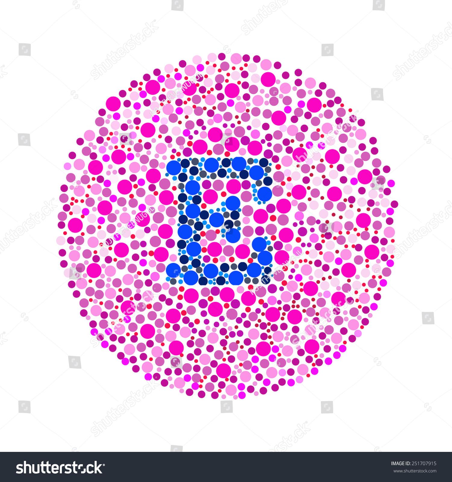 Blind Colour Test Letter E Stock Illustration 251707915 - Shutterstock