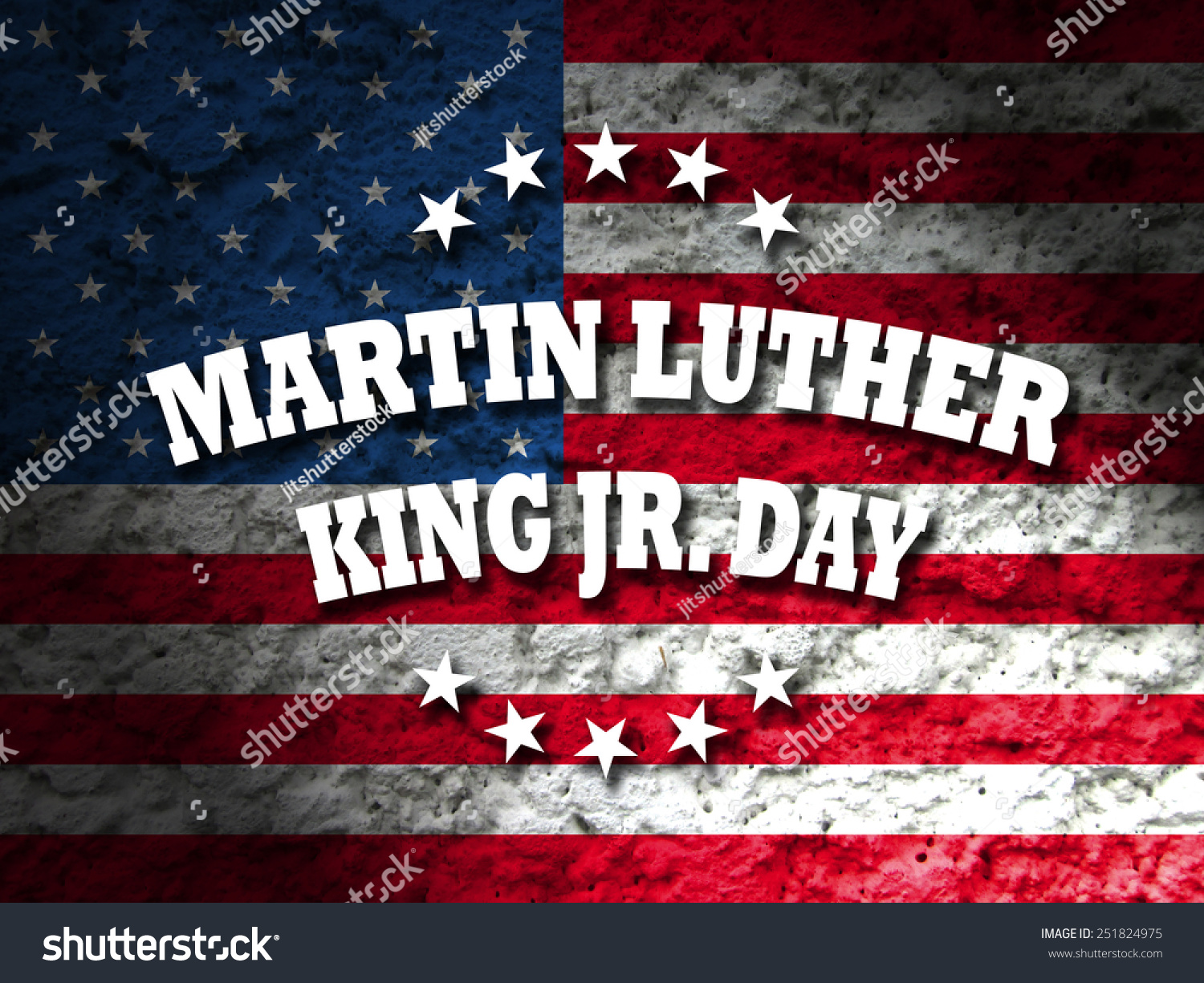 Martin Luther King Jr. Day Greeting Card American Flag ...