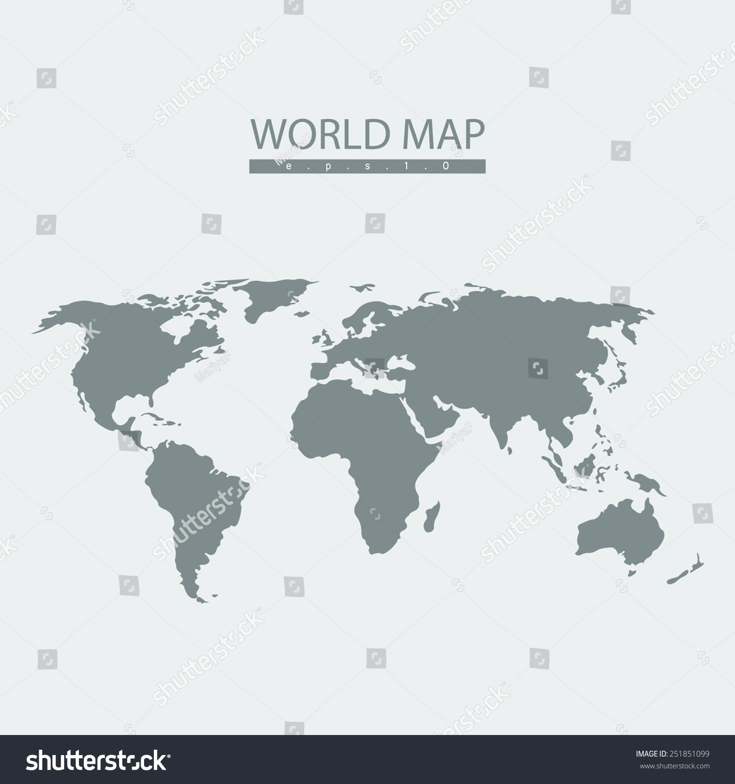 Vector world map atlas continent mainland stock vector 2018 vector world map atlas continent mainland infographicsflat graphics eps10 gumiabroncs Gallery