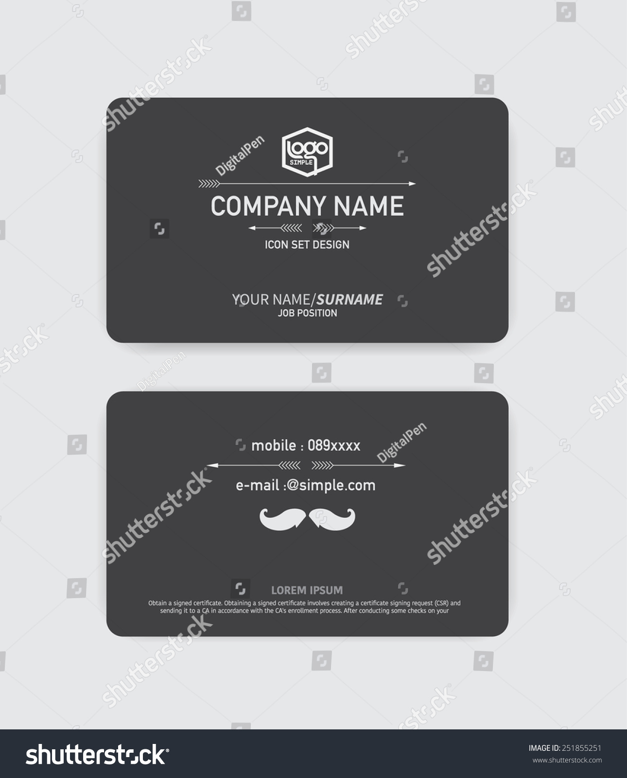 Hipster business card vector background stock vector for Hipster business card