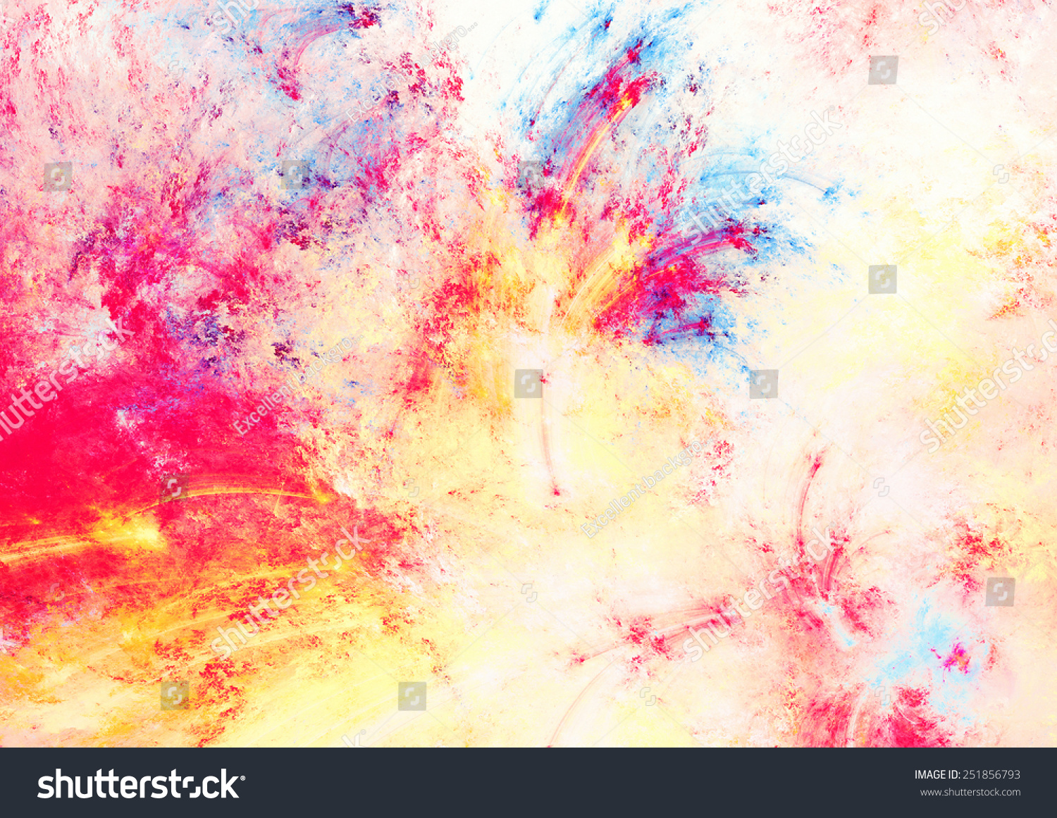 Artistic Splashes Bright Paints Abstract Light Stock ...