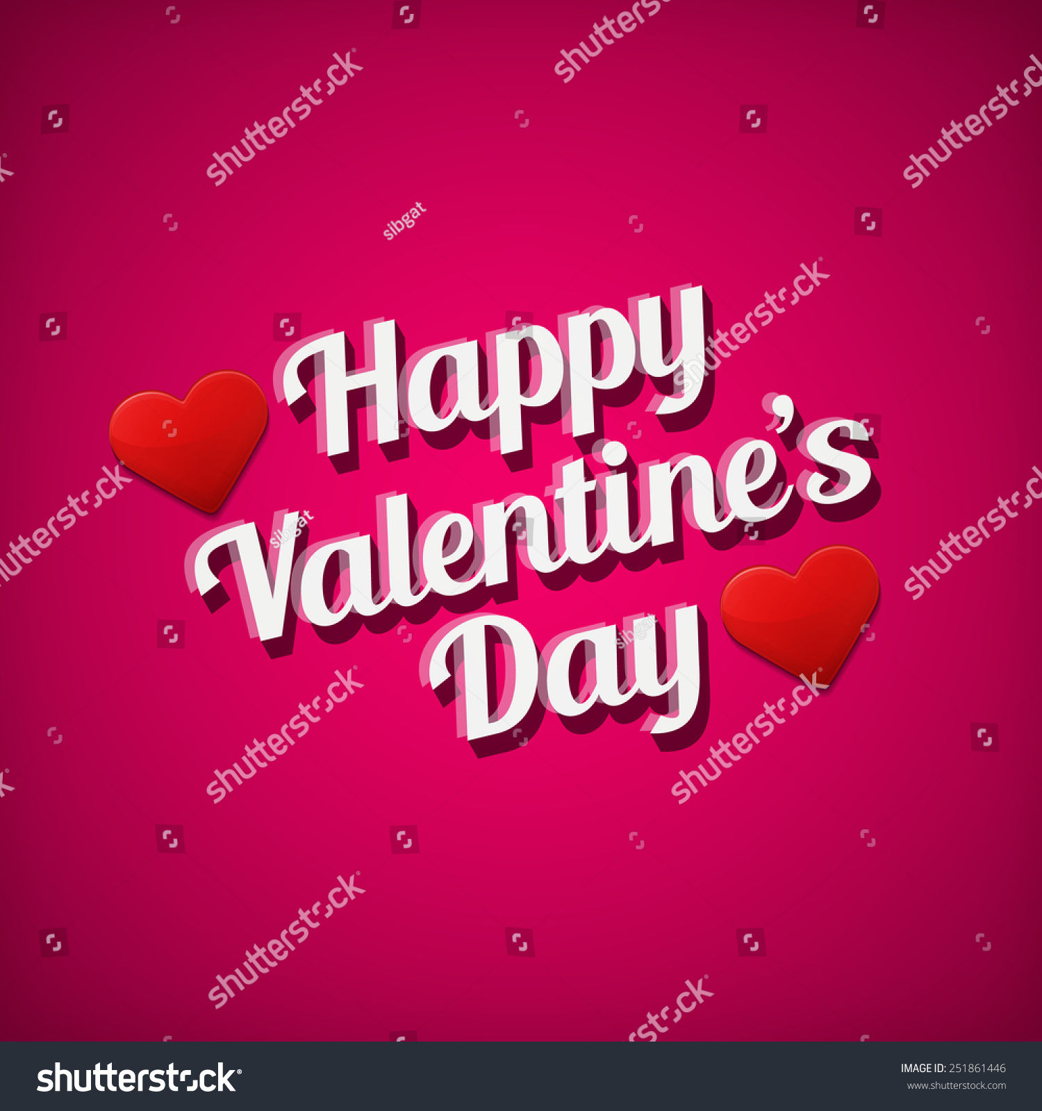 Valentines Day Greetings Card White Text Over Pink Background