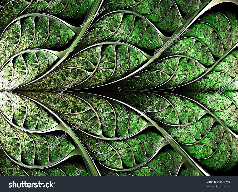 Abstract Plant Background Fractal Illustration Digital Stock Illustration 251872213