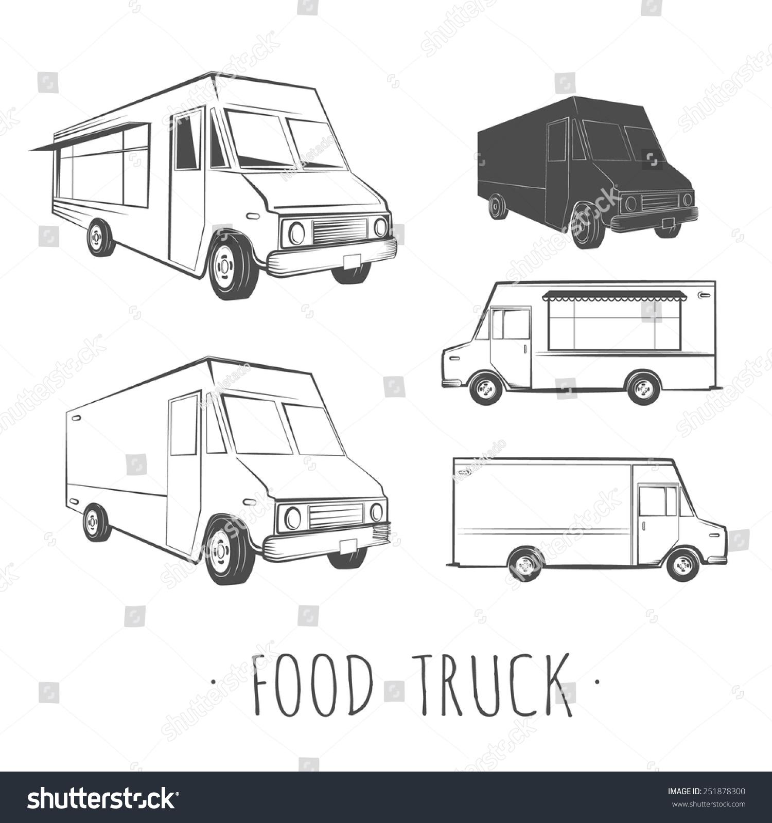Food Truck Blank Stock Vector 251878300 Shutterstock