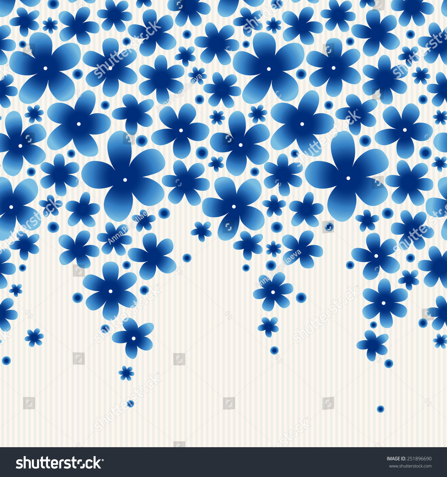bright floral border on light background stock vector