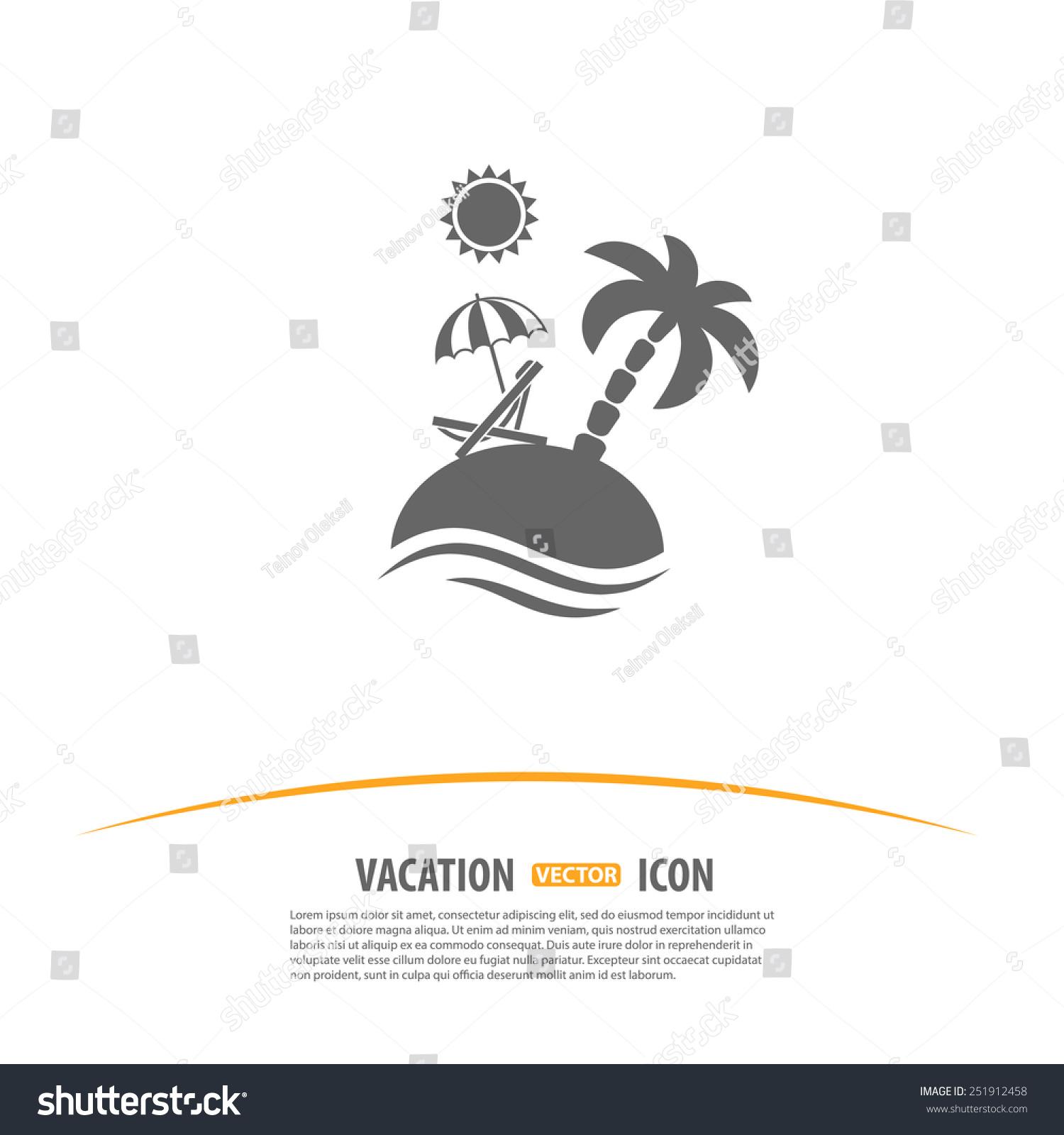 Travel Tourism Vacation Logo Design Template Stock Vector