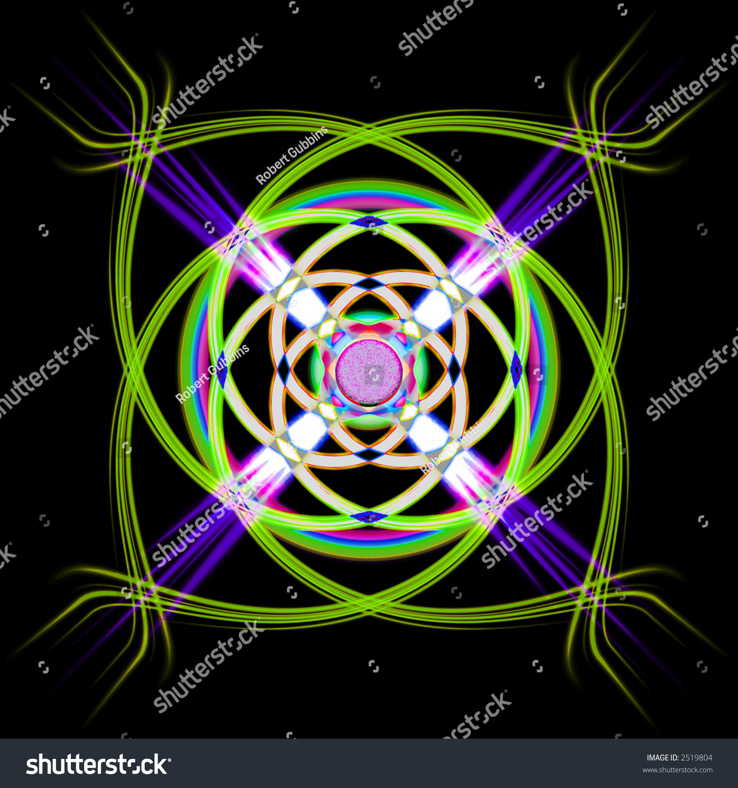 Abstract Background Vibrant Colors Fine Lines Nice