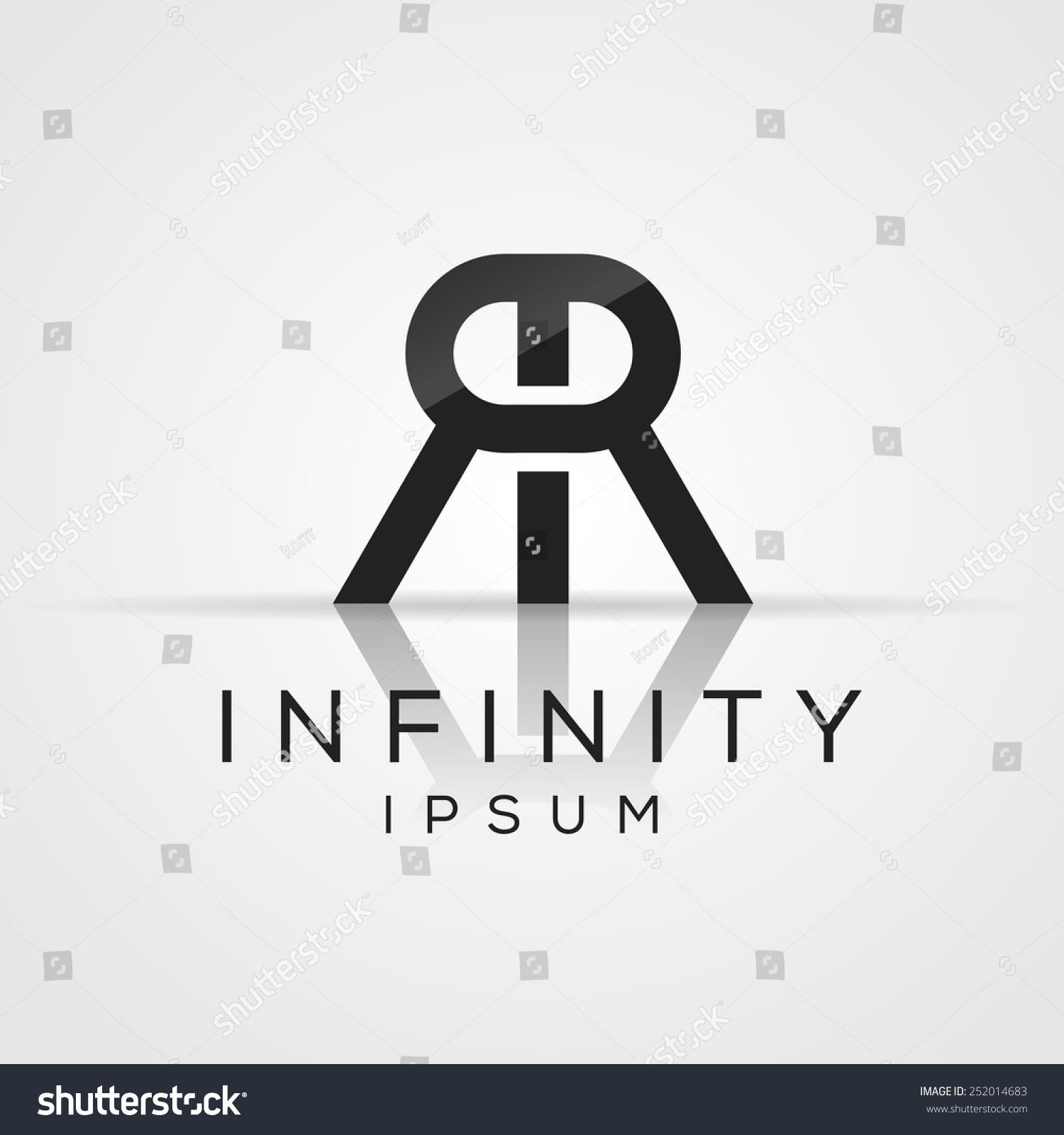Elegant Minimal Letter Symbol Alphabet Double Stock Vector Royalty