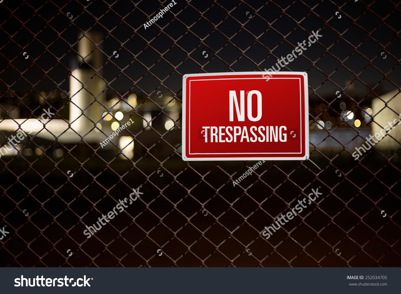 broken fence warning announcement - photo #17