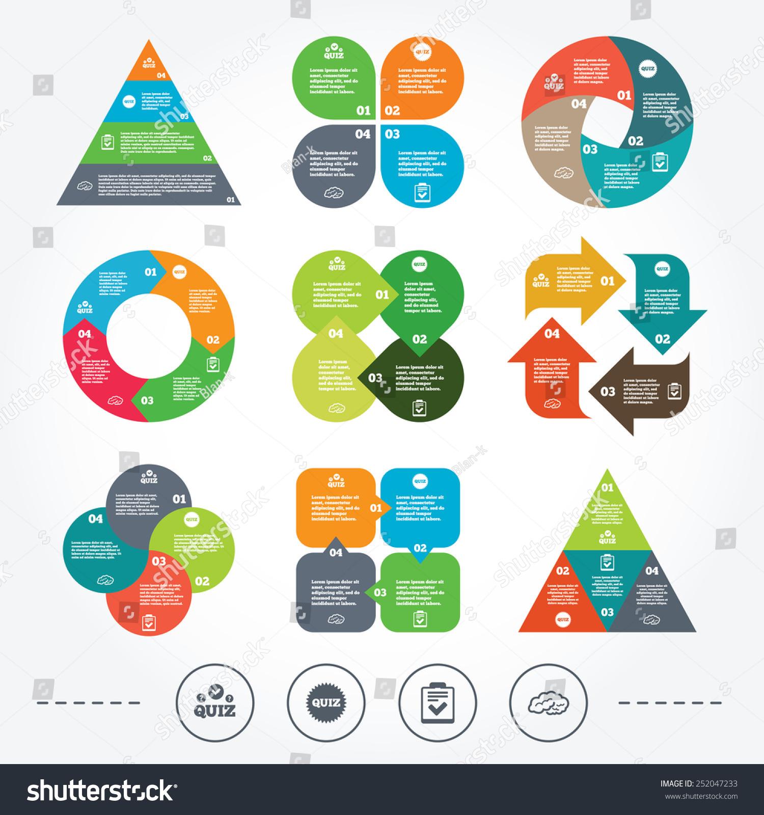 circle triangle diagram charts quiz icons stock vector  circle and triangle diagram charts quiz icons human brain think checklist symbol