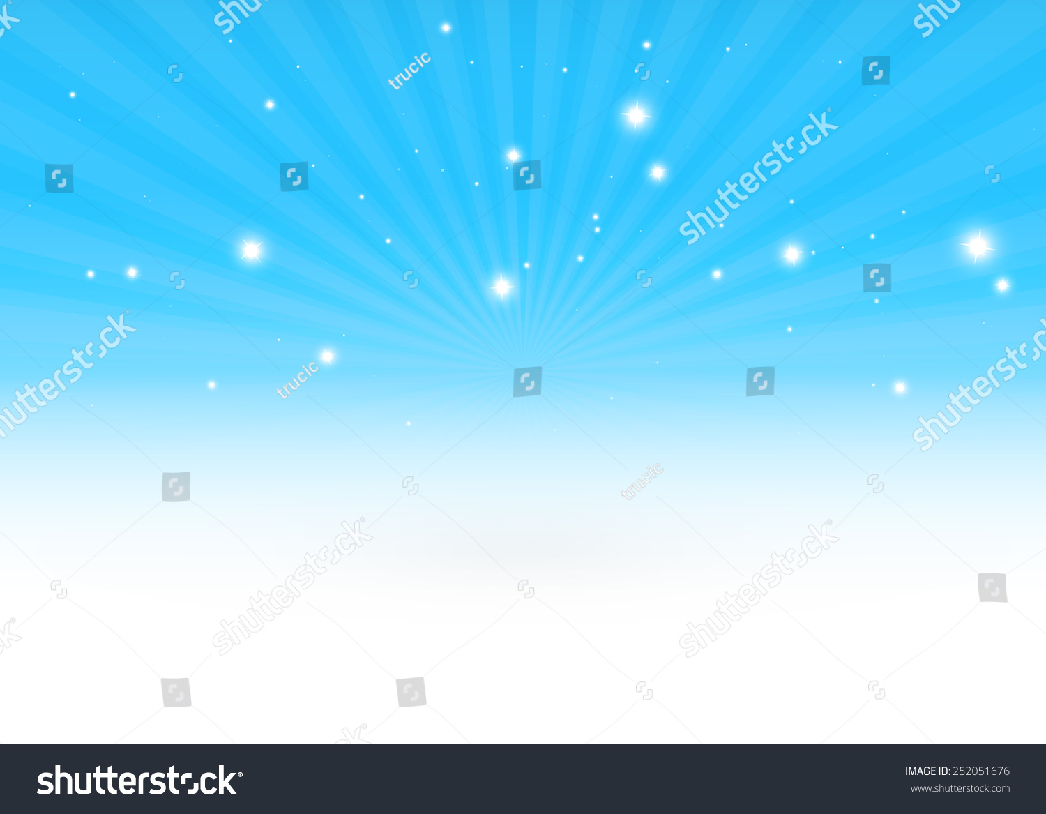 Glittering Vector 3d Blue Burst Scene Stock Vector