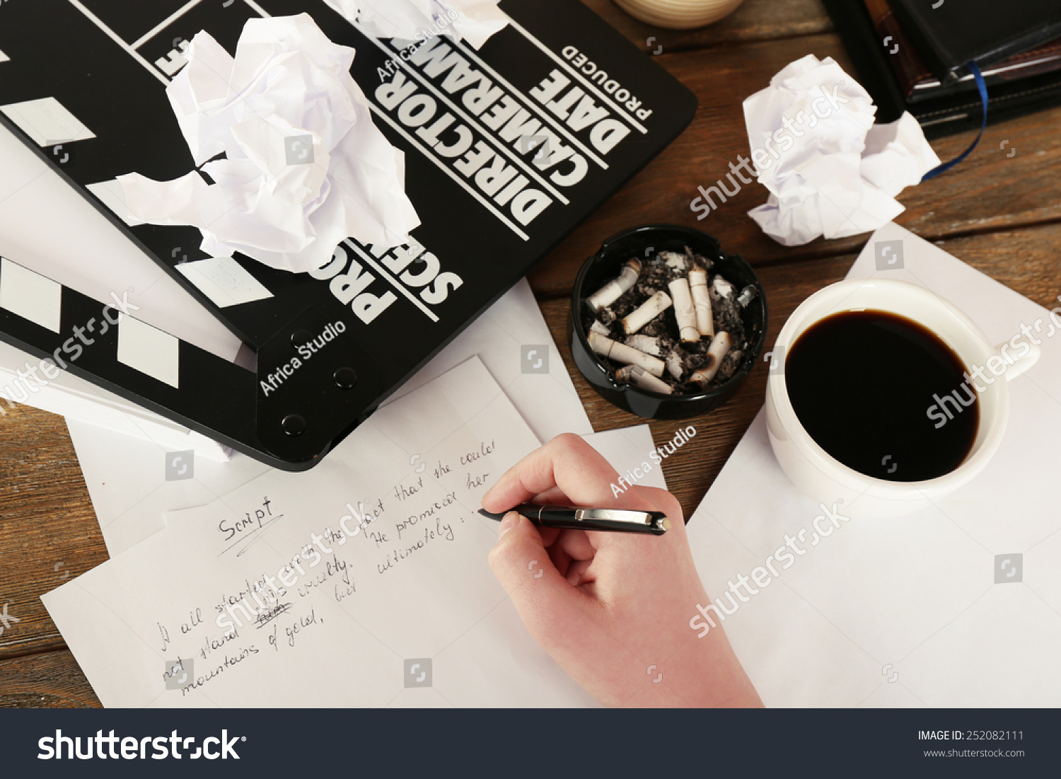 Female Hand Writing Script Desktop Moving Photo 252082111 – Script Writing