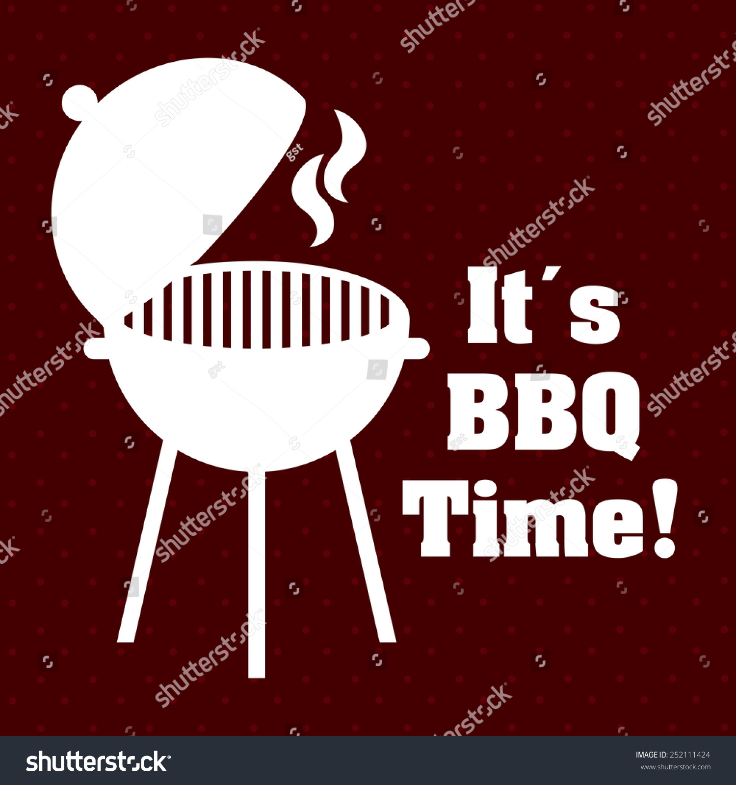 Barbecue restaurant design vector illustration eps stock