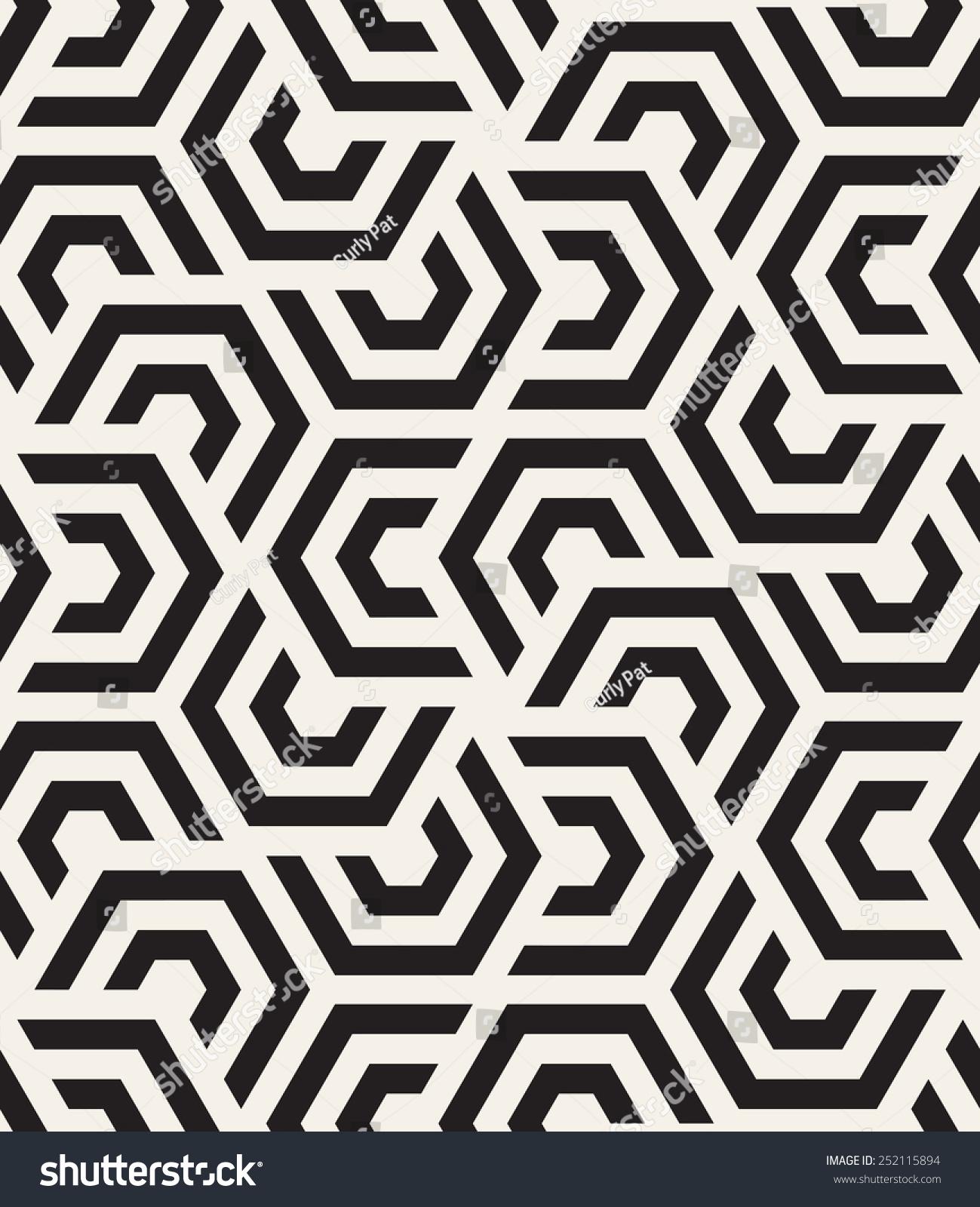 Vector Seamless Pattern Modern Stylish Texture Stock