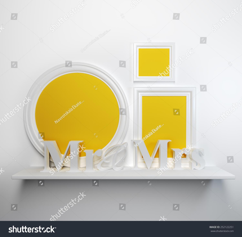 Set Blank Classic Frames 3 D Mr Stock Illustration 252122251 ...