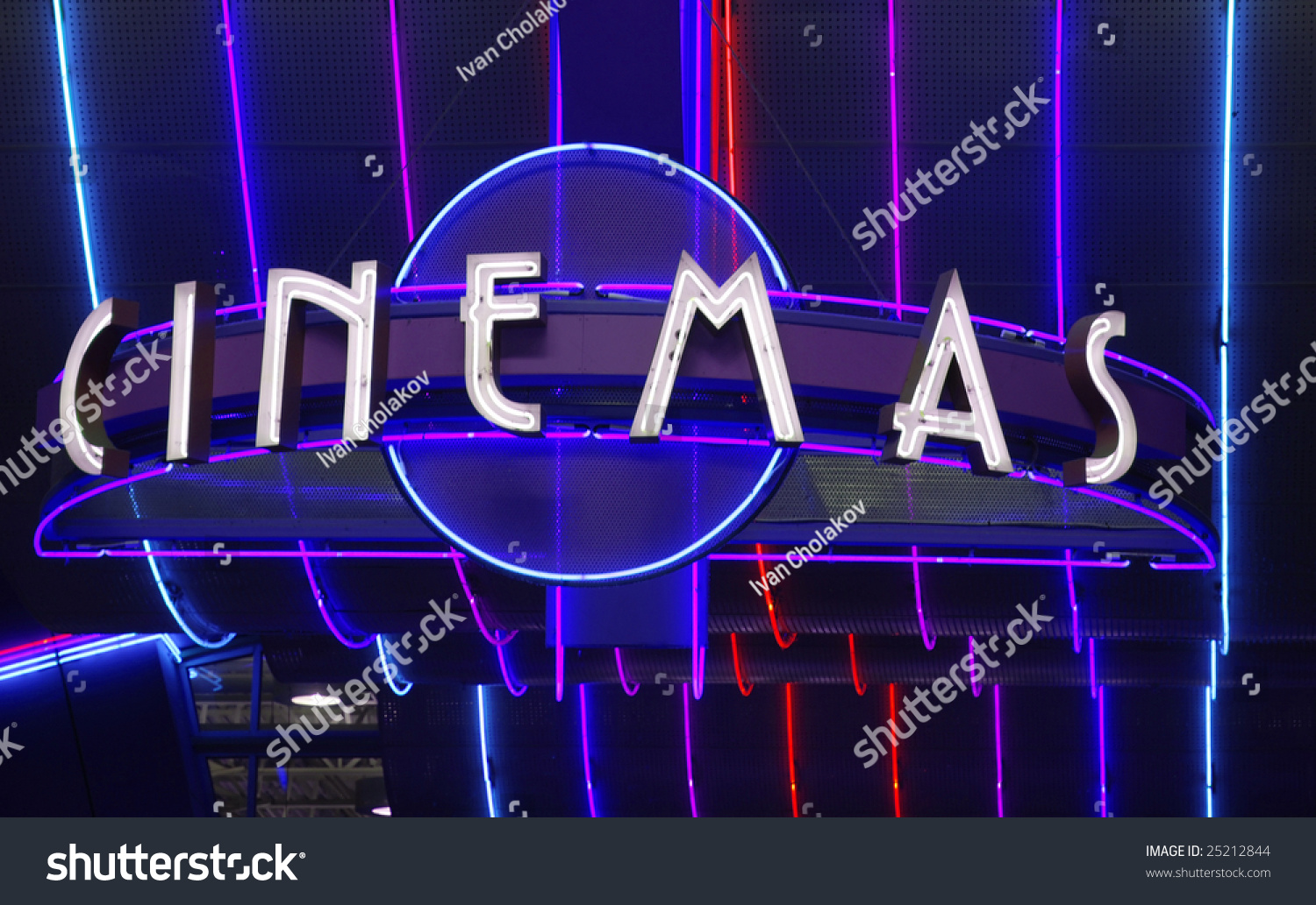 image gallery movie theater neon sign