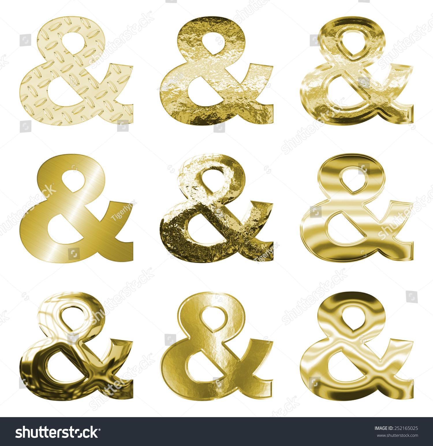 Set 9 Ampersand And Symbols Bright Stock Illustration 252165025