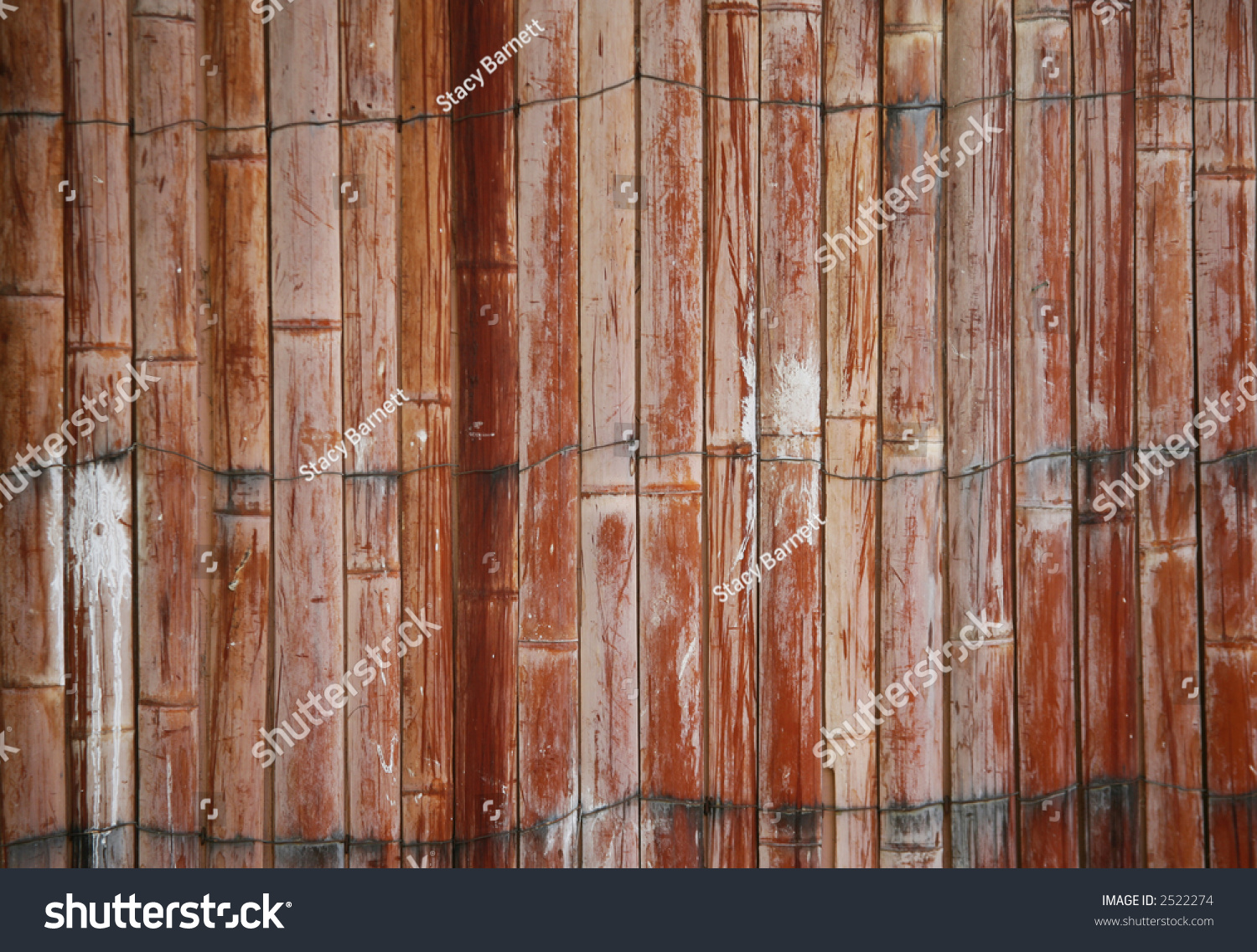 Beautiful Exterior Wooden Fence That Has Paint Splats On It And Is Weathered Stock Photo 2522274