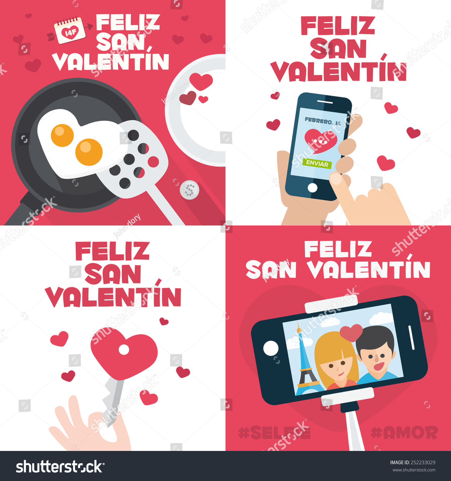 4 happy valentines day cards with fried egg in heart shape mobile send mail heart key and. Black Bedroom Furniture Sets. Home Design Ideas